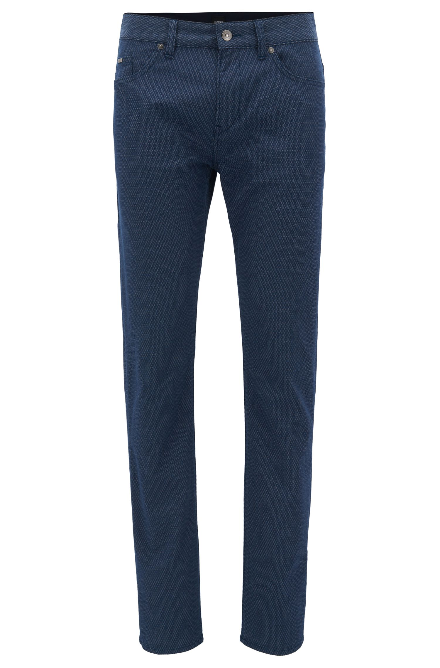 Stretch Cotton Pant, Slim Fit | Delaware, Dark Blue