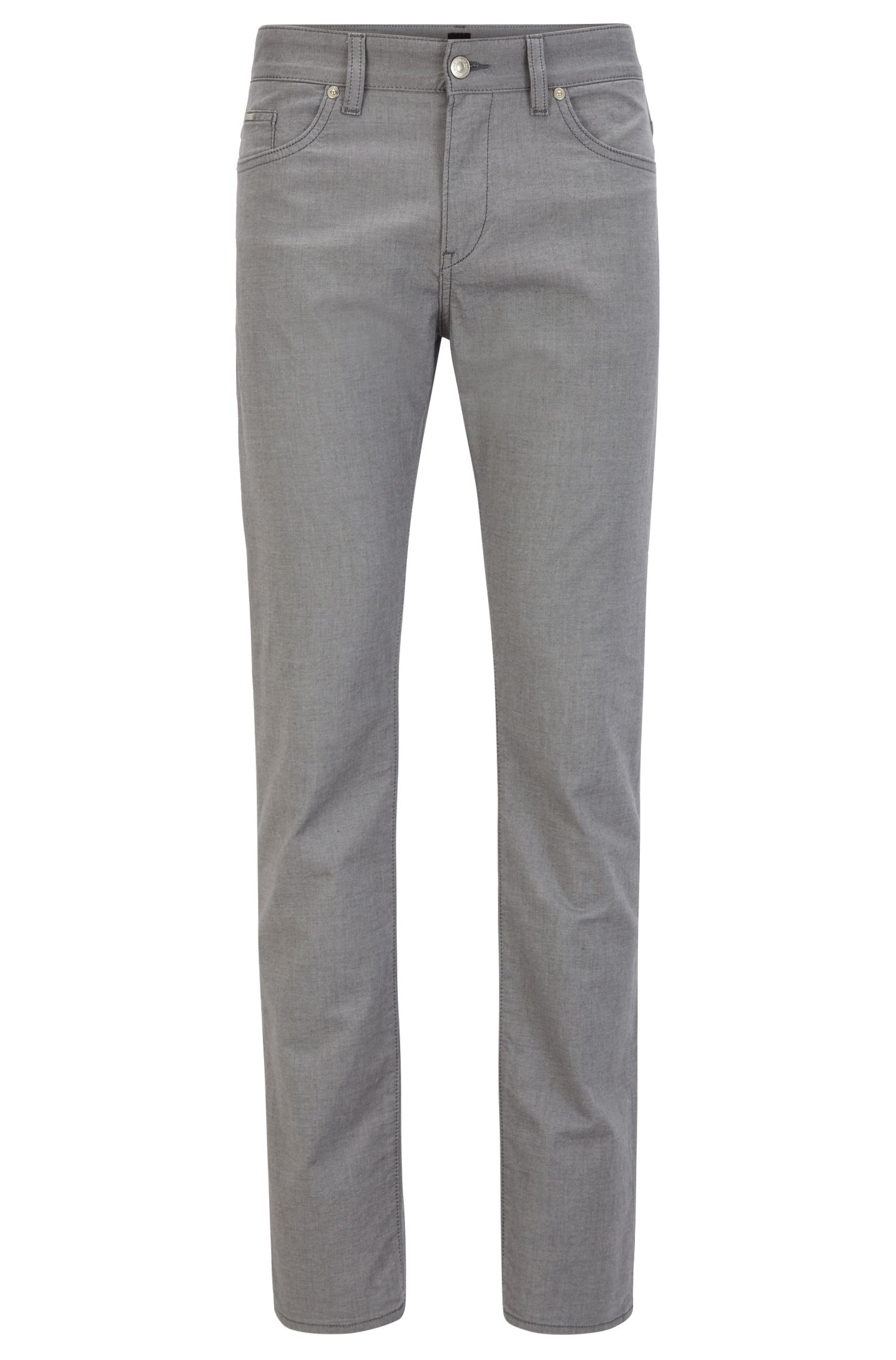 Stretch Cotton Pant, Slim Fit | Delaware, Open Grey