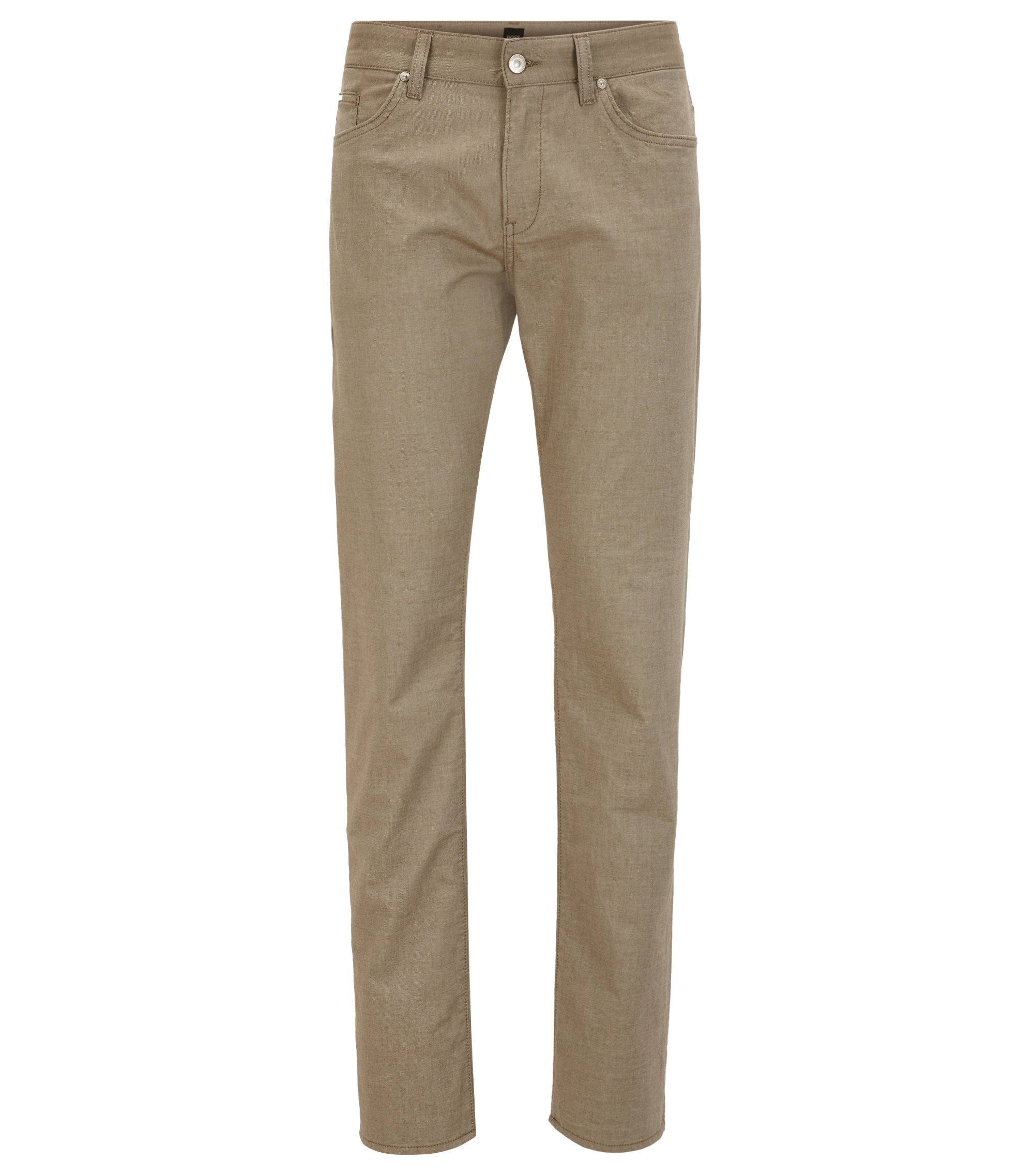 Stretch Cotton Pant, Slim Fit | Delaware, Beige