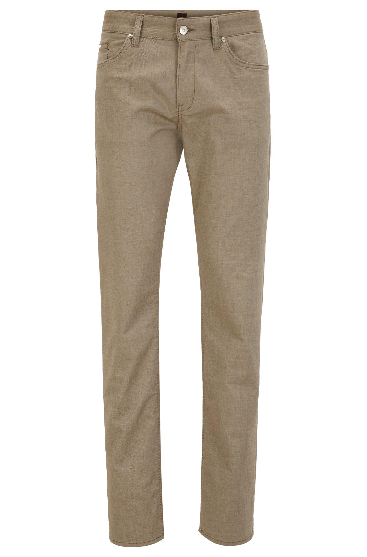 Stretch Cotton Pant, Slim Fit | Delaware, Beige