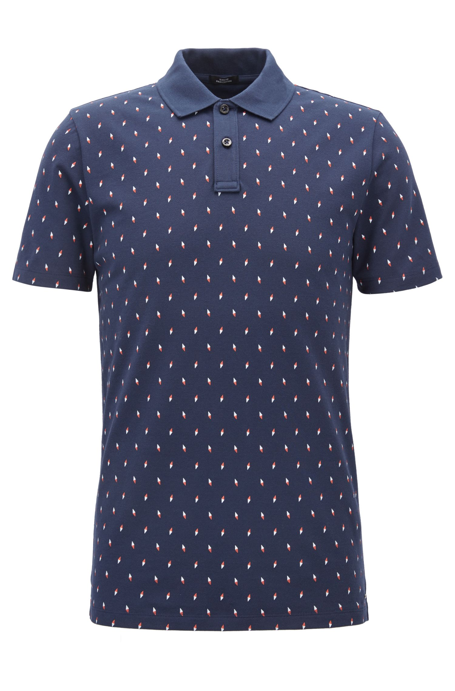 Cotton Blend Polo Shirt, Slim Fit | Paddy Pro