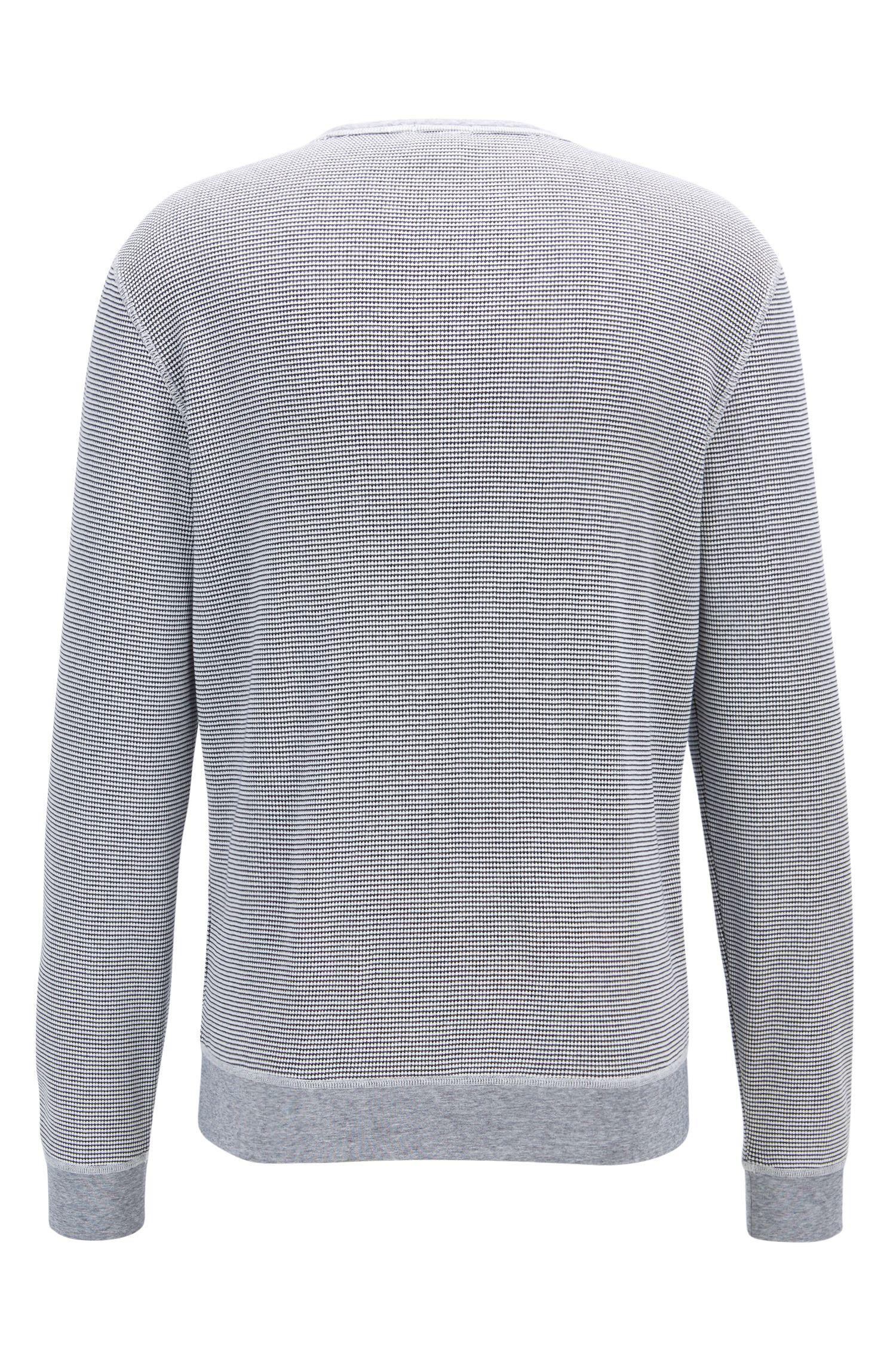 Cotton Knit Sweatshirt | Skubic, Dark Blue
