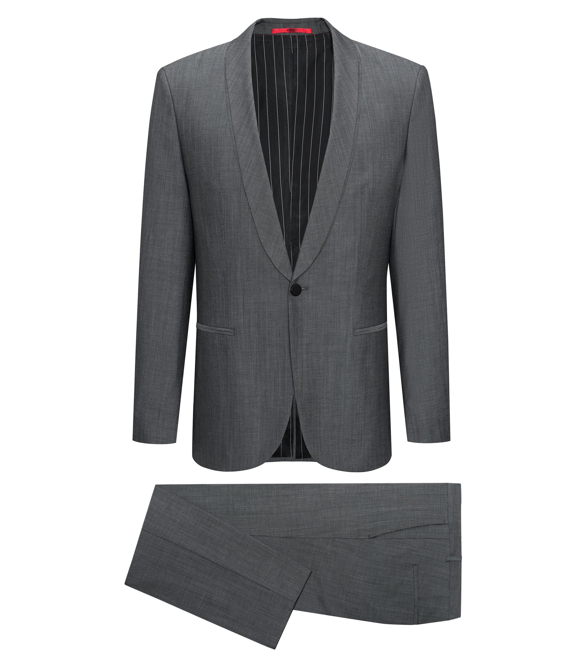 Wool Cotton Suit, Extra Slim Fit | Arti/Hesten, Dark Grey