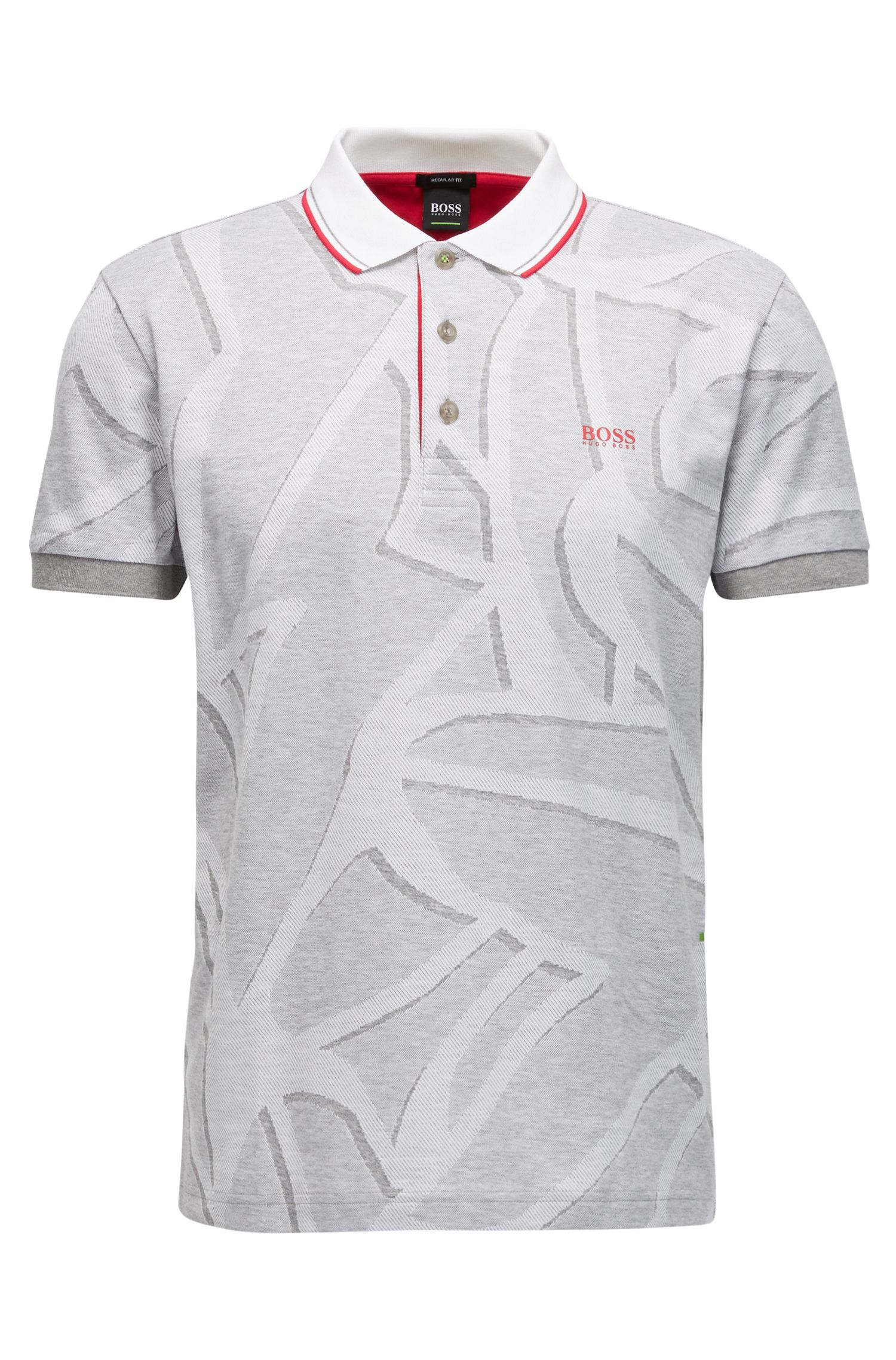 Patterened Cotton Polo Shirt, Regular Fit | Paddy