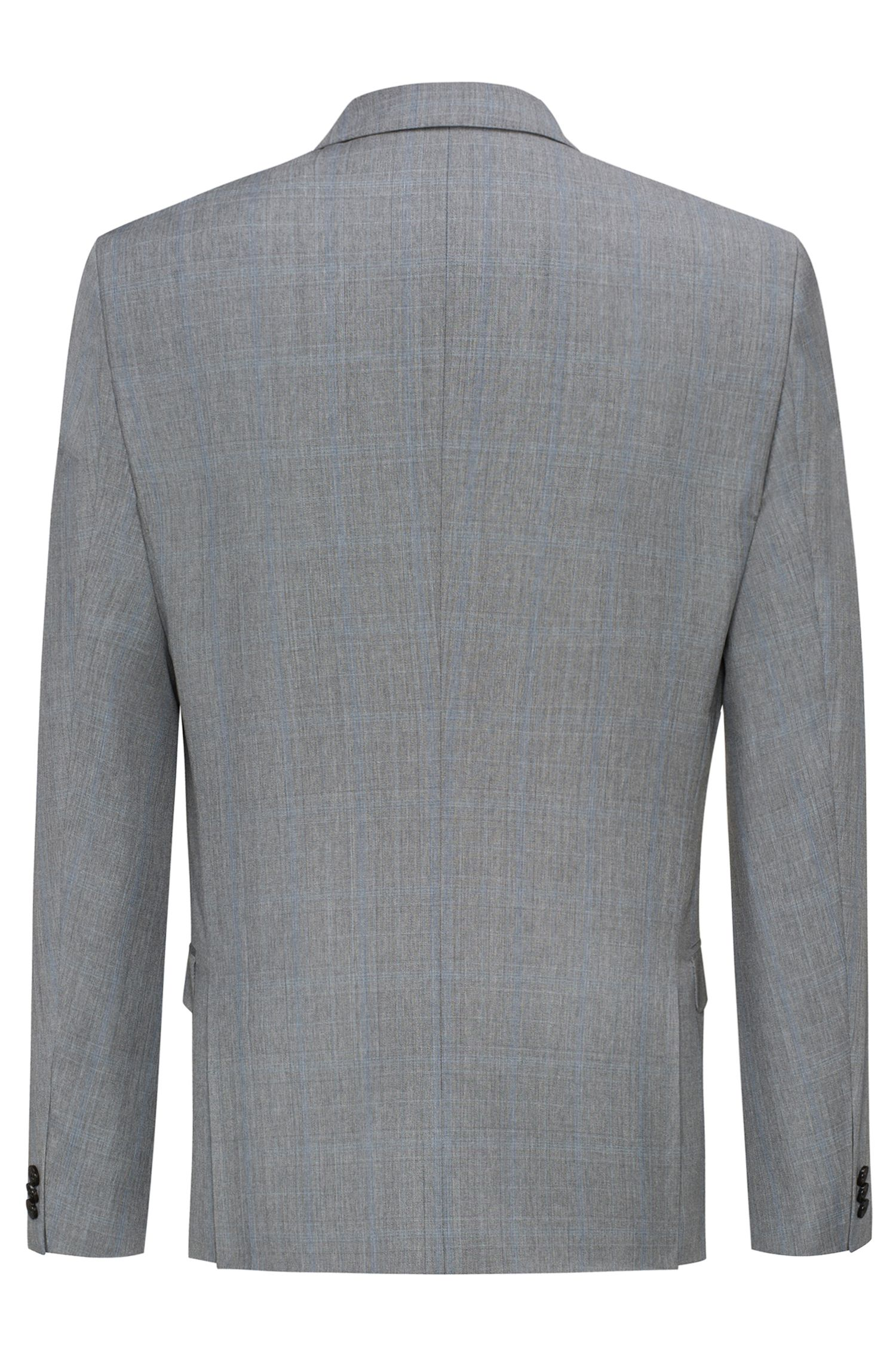 Plaid Wool Sport Coat, Extra Slim Fit | Arti, Open Grey
