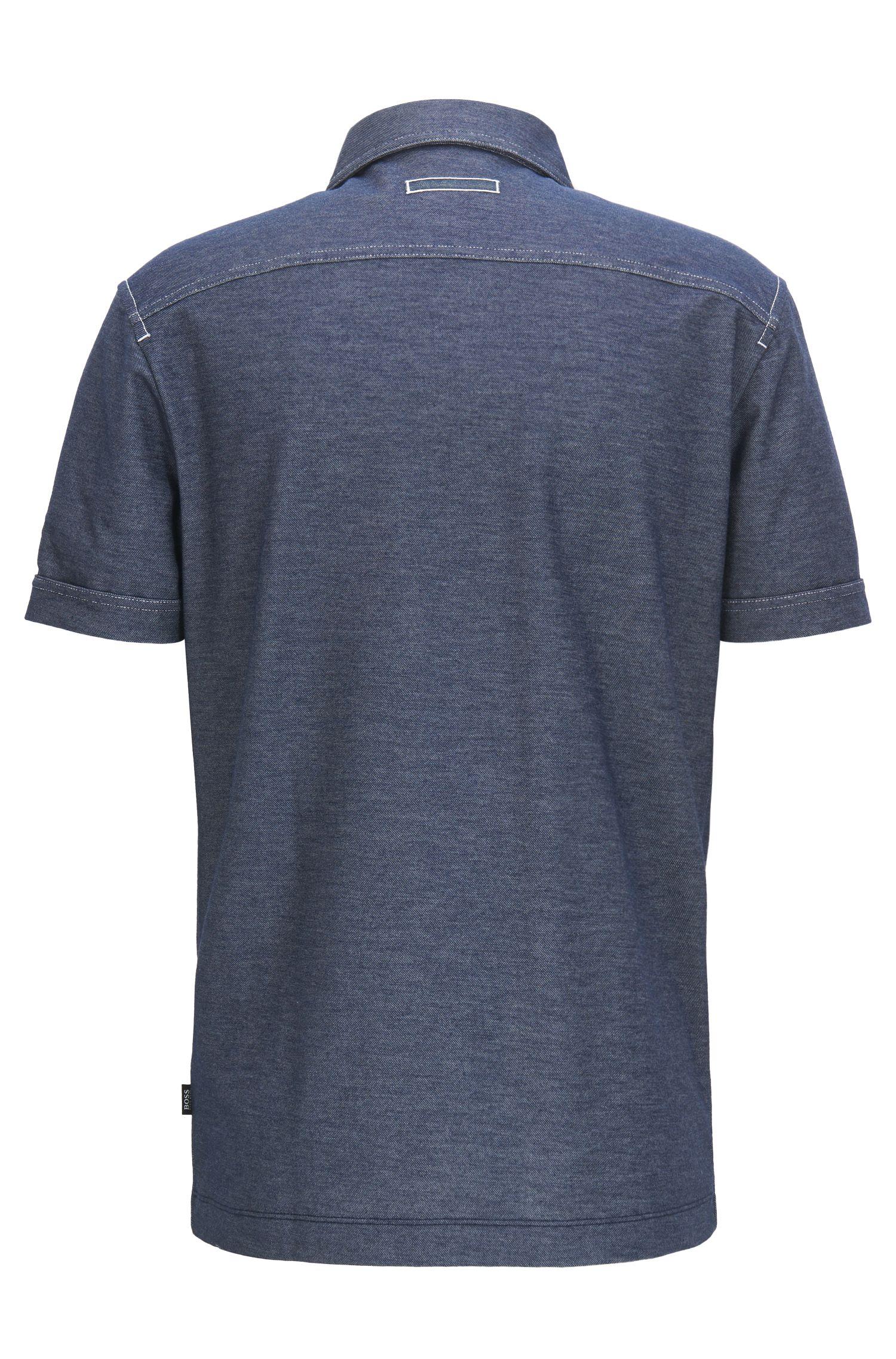 Cotton Blend, Regular Fit | Press, Dark Blue