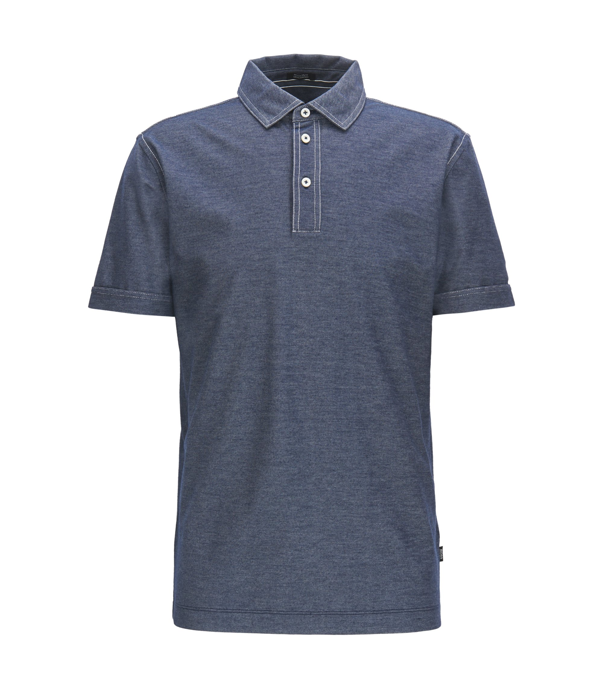 Cotton Blend, Regular Fit | Press, Dark Blue