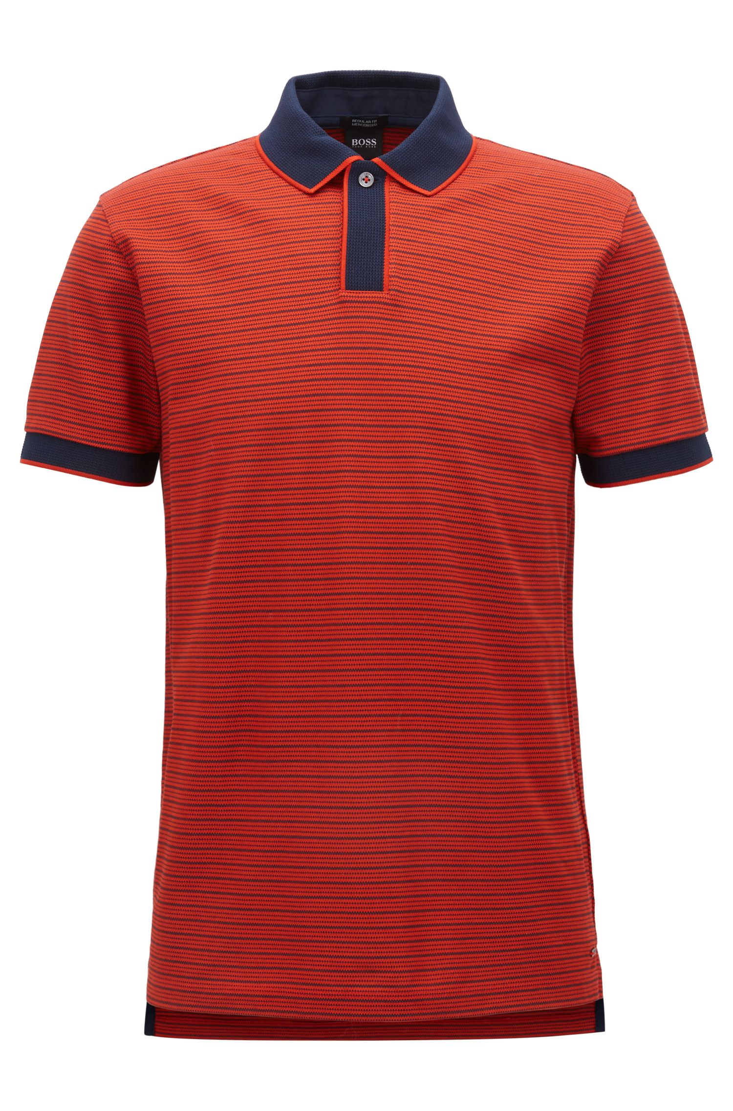 Striped Mercerized Cotton Polo Shirt, Regular Fit | Parlay