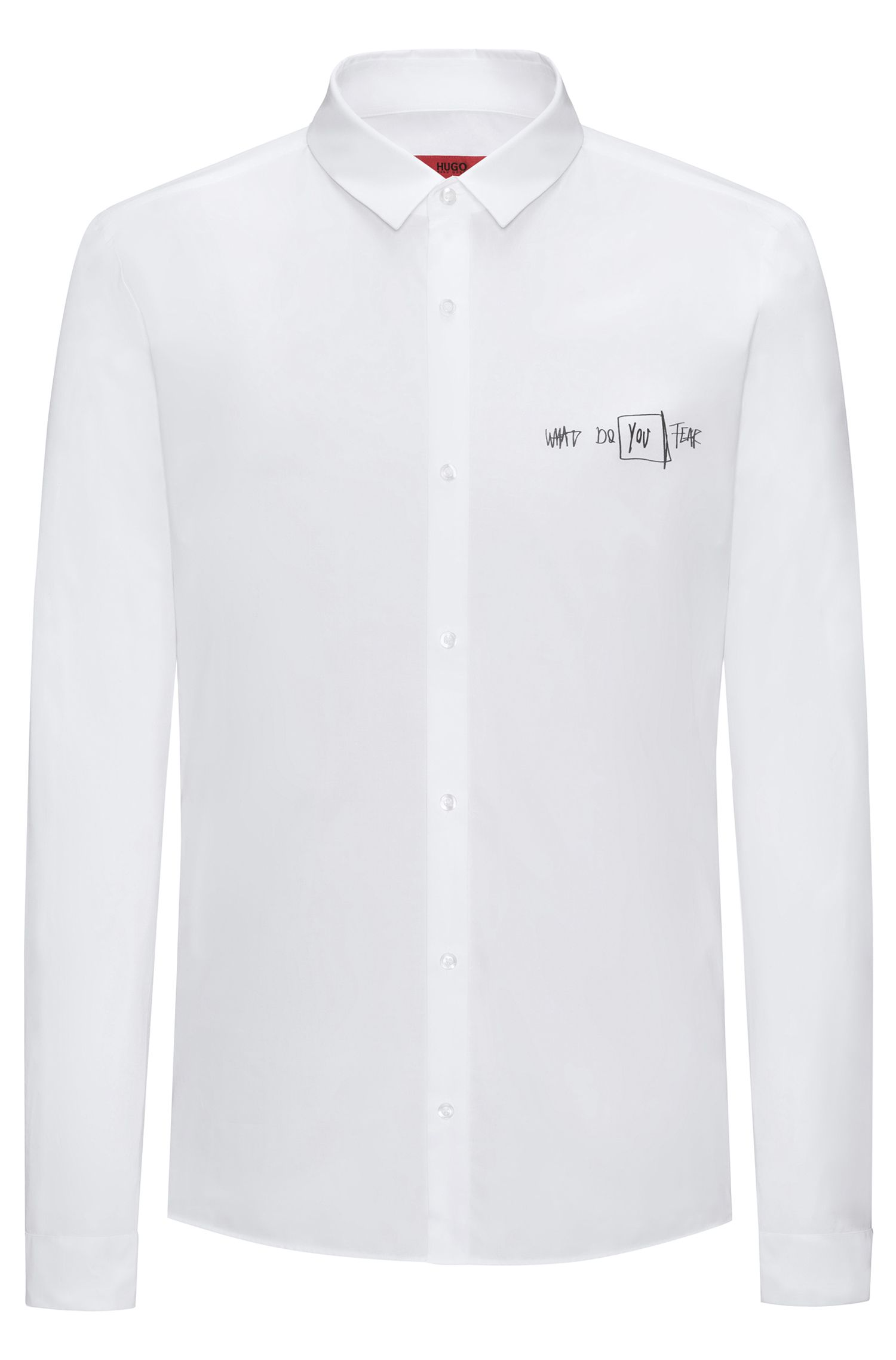 Scribbled Sport Shirt, Extra Slim Fit | Ero