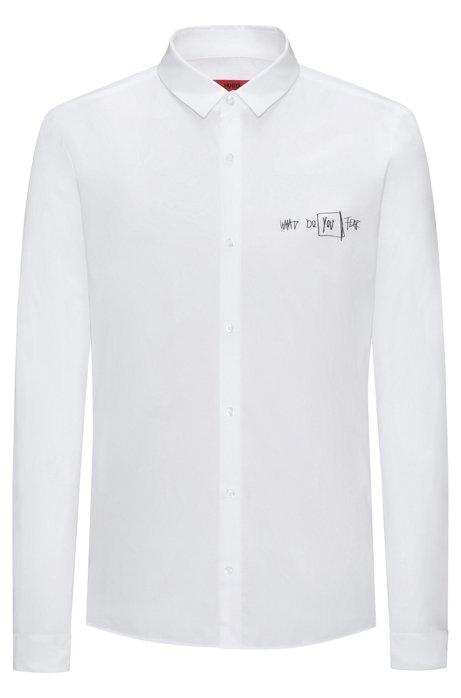 Hugo scribbled sport shirt extra slim fit ero for Extra slim tuxedo shirt