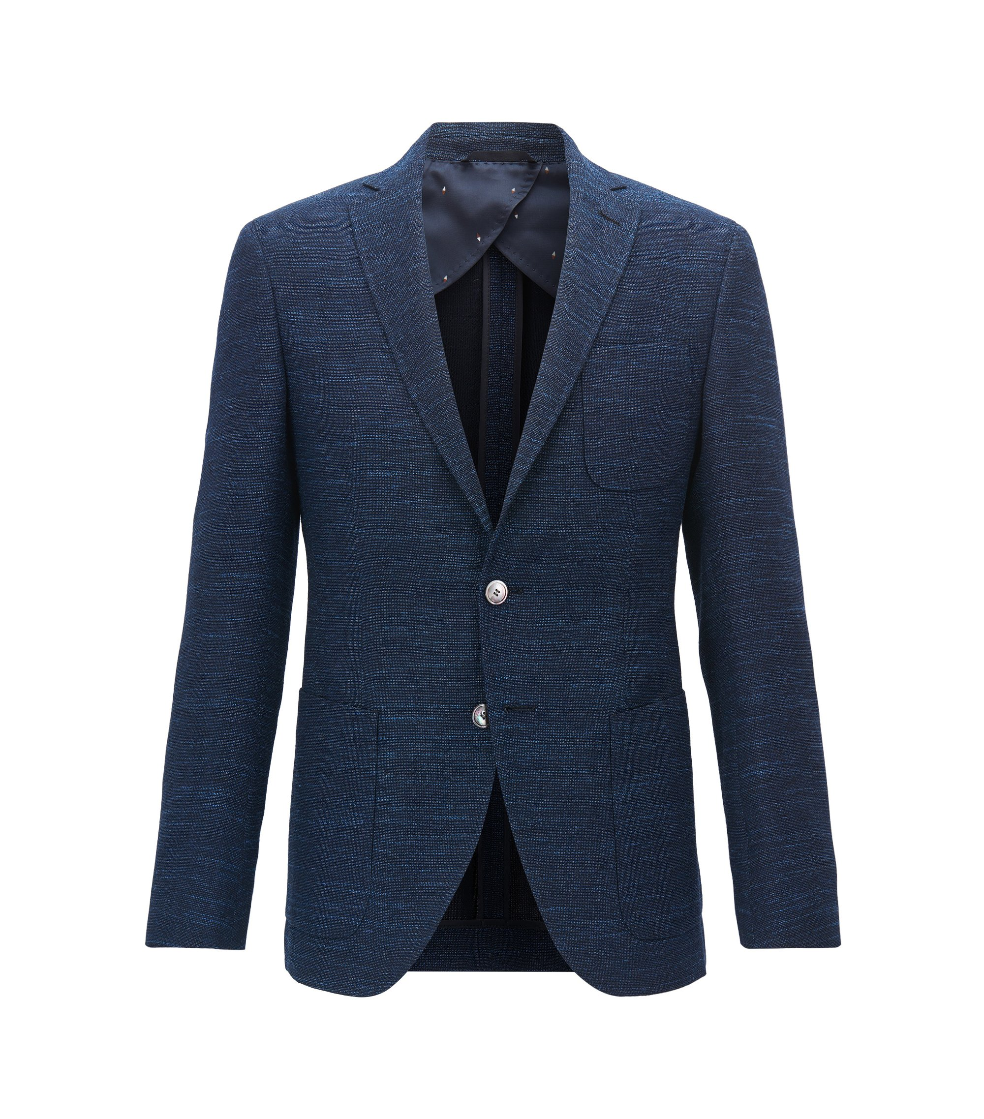 Yarn-Dyed Wool Blend Sport Coat, Extra Slim Fit | Raye, Open Blue