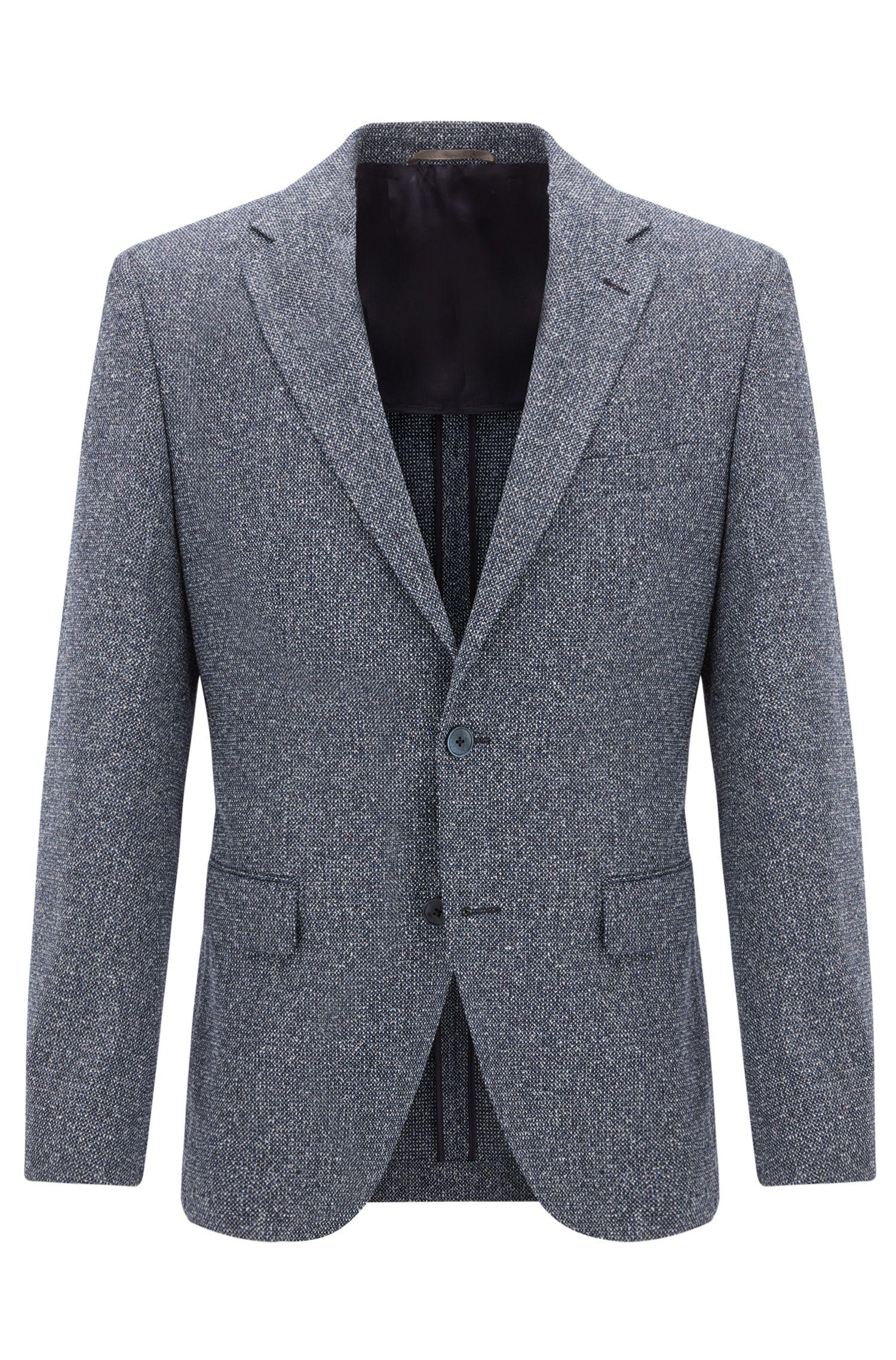 Melange Wool Silk Blend Sport Coat, Regular Fit | Jestor