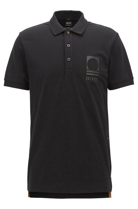 d77b99d43 BOSS - Stretch Cotton Polo Shirt, Slim Fit | Paule Flag