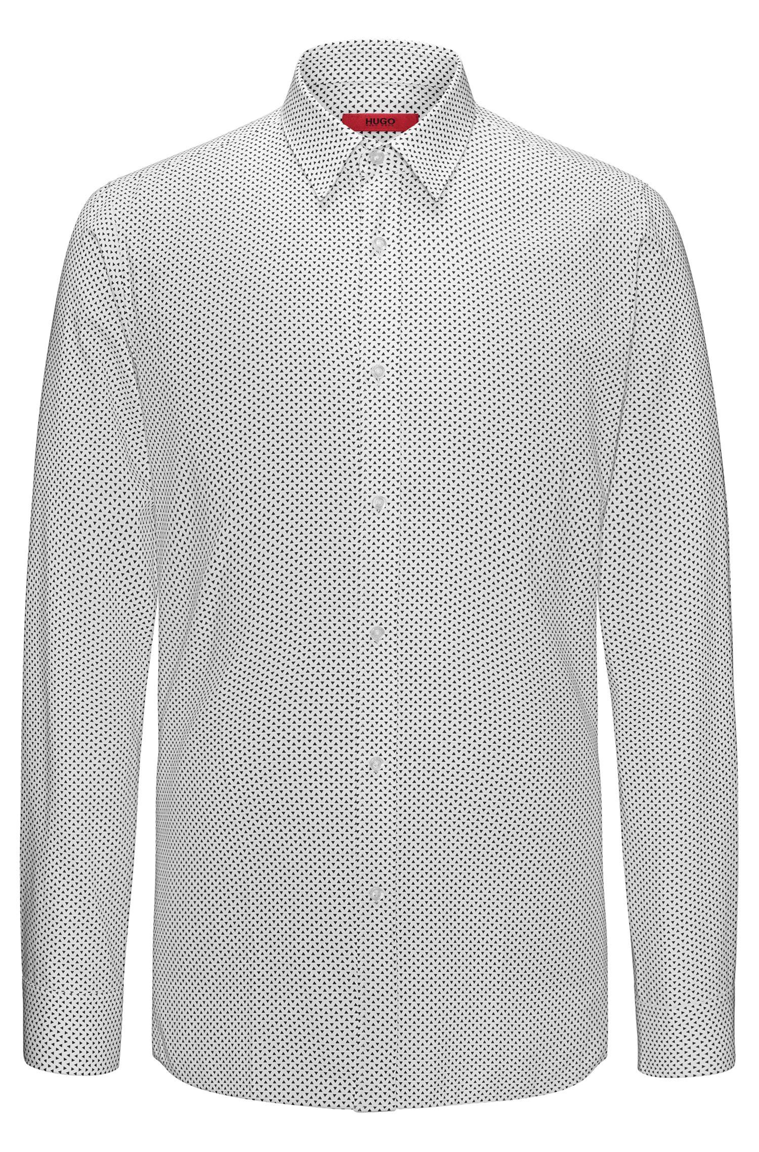 Triangle-Print Cotton Sport Shirt, Extra Slim Fit | Elisha