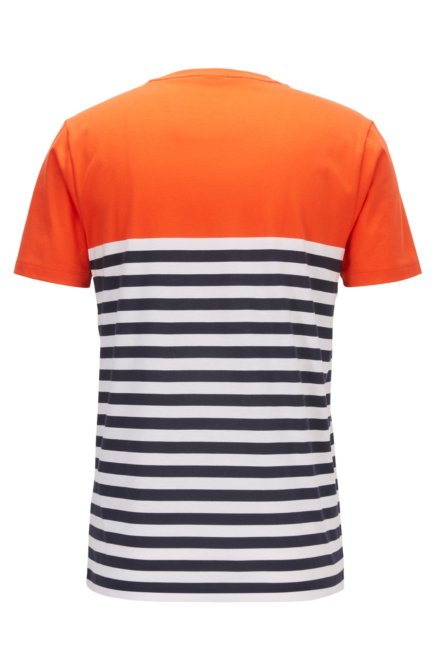 Stripe Colorblock T-Shirt | Tessler, Orange