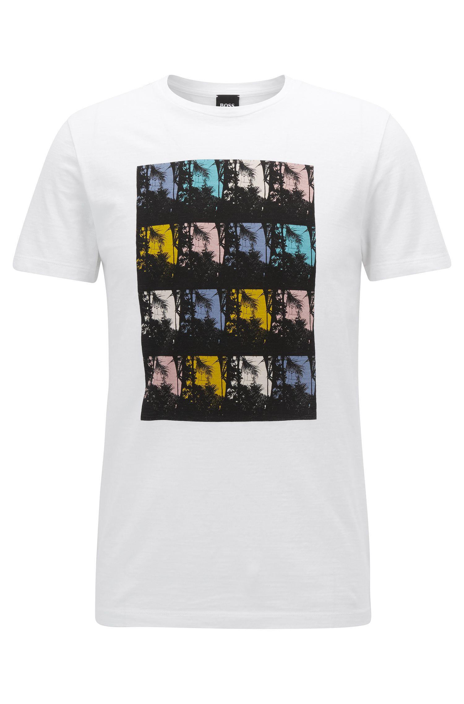 Tropical Cotton Graphic T-Shirt   Tarjo