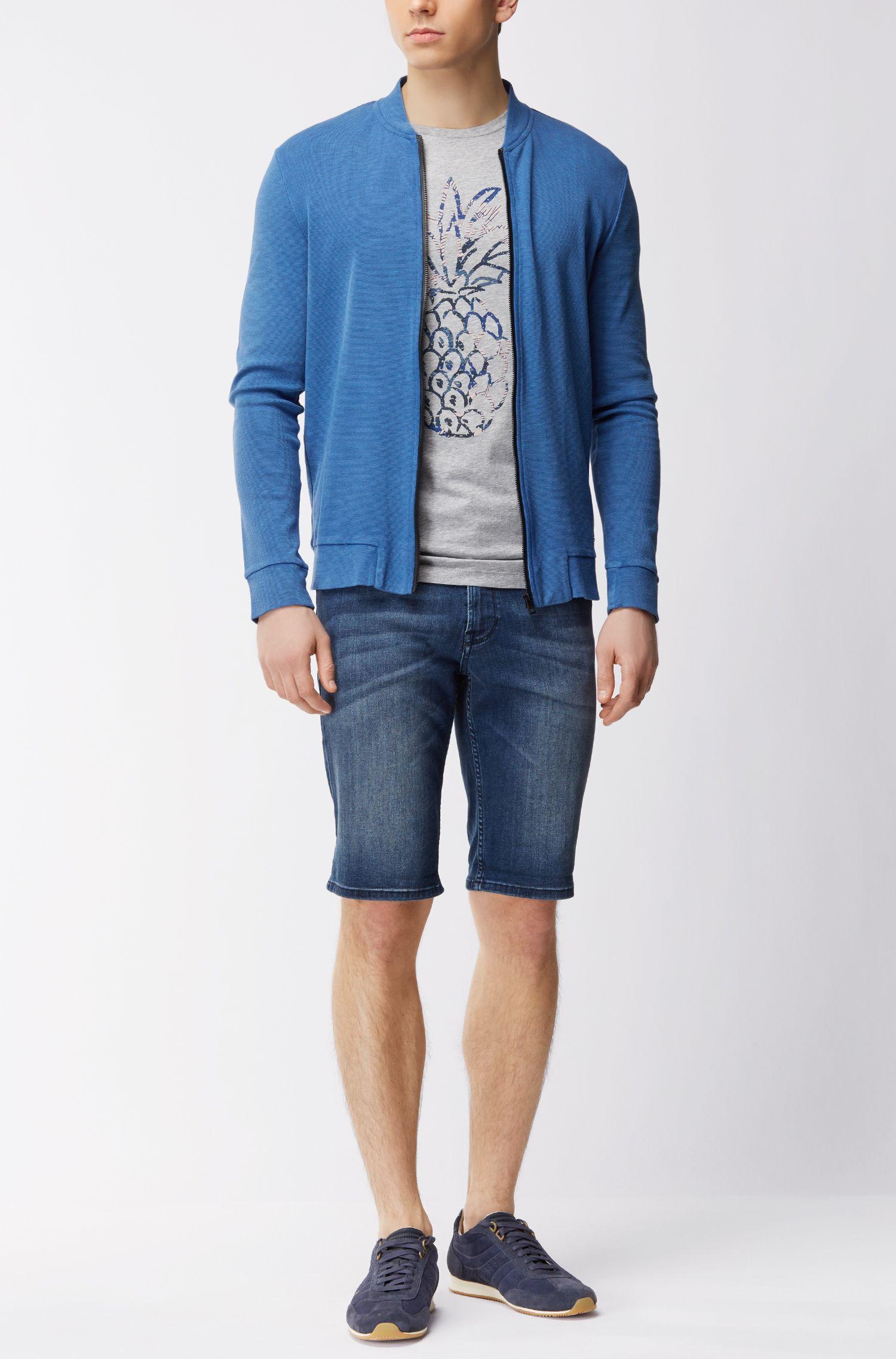 Pineapple Cotton Jersey Graphic T-Shirt | Tauno, Grey