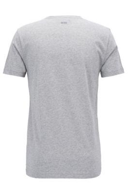 65914c2a0 BOSS - Pineapple Cotton Jersey Graphic T-Shirt | Tauno