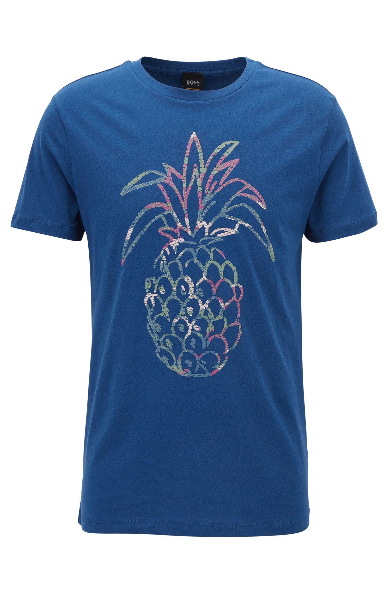 Pineapple Cotton Jersey Graphic T-Shirt | Tauno