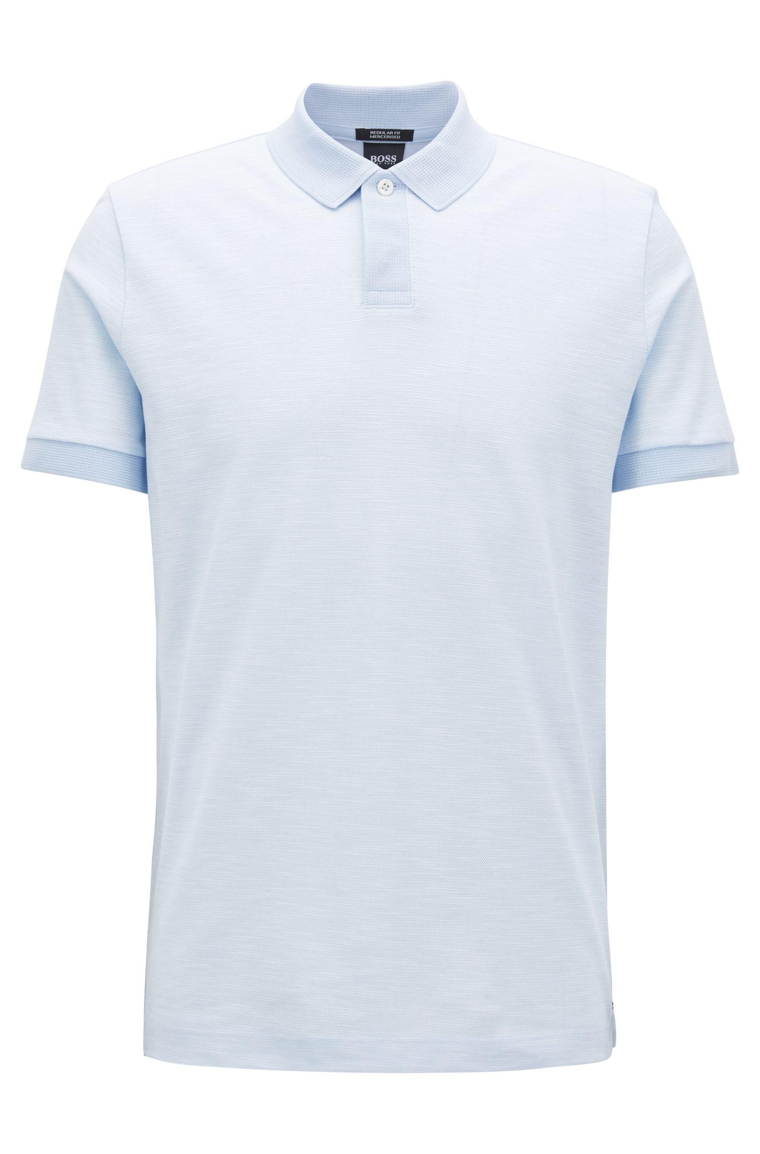 Mercerized Cotton Polo Shirt, Regular Fit   Parlay