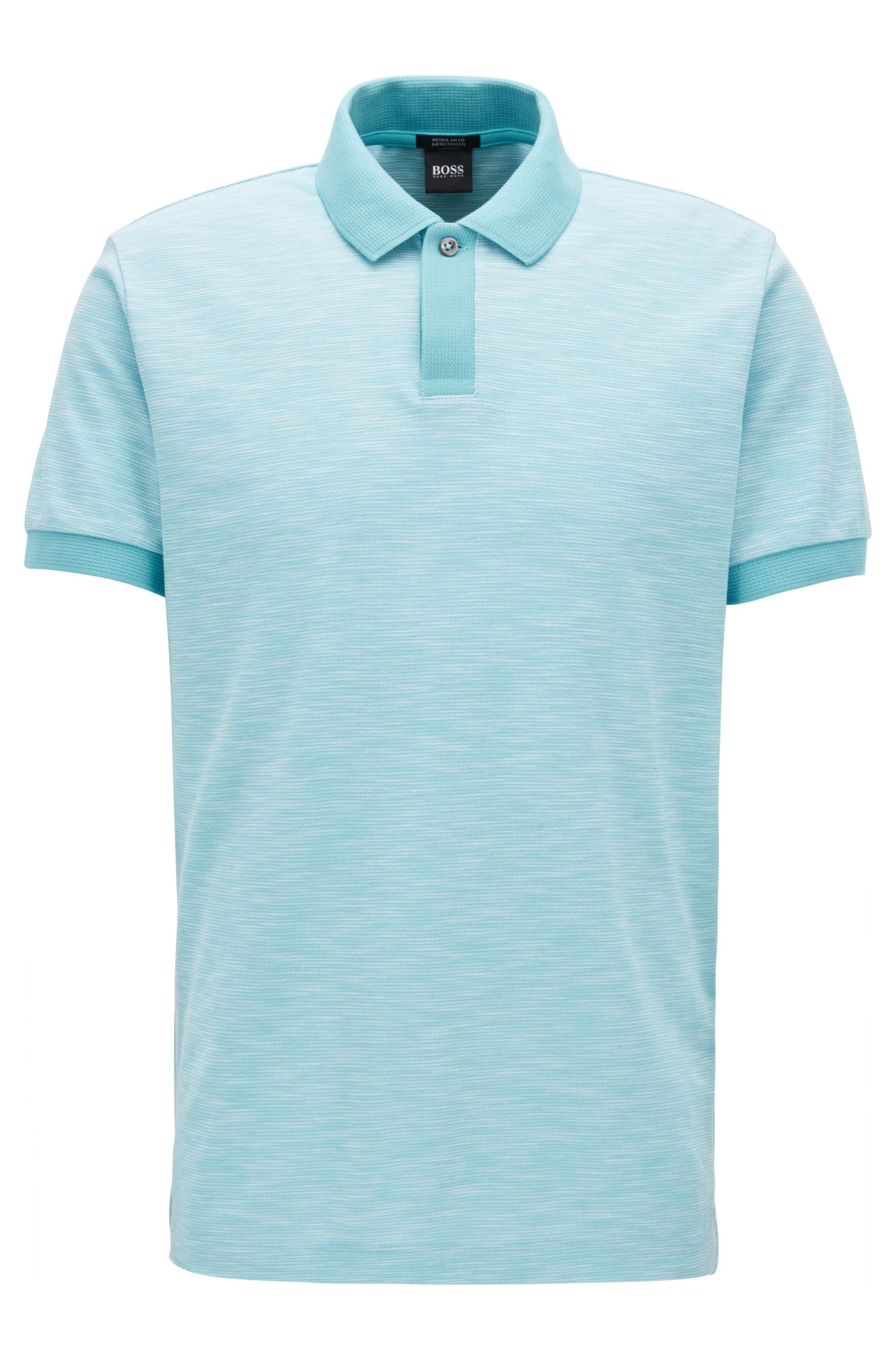 Mercerized Cotton Polo Shirt, Regular Fit | Parlay, Light Blue