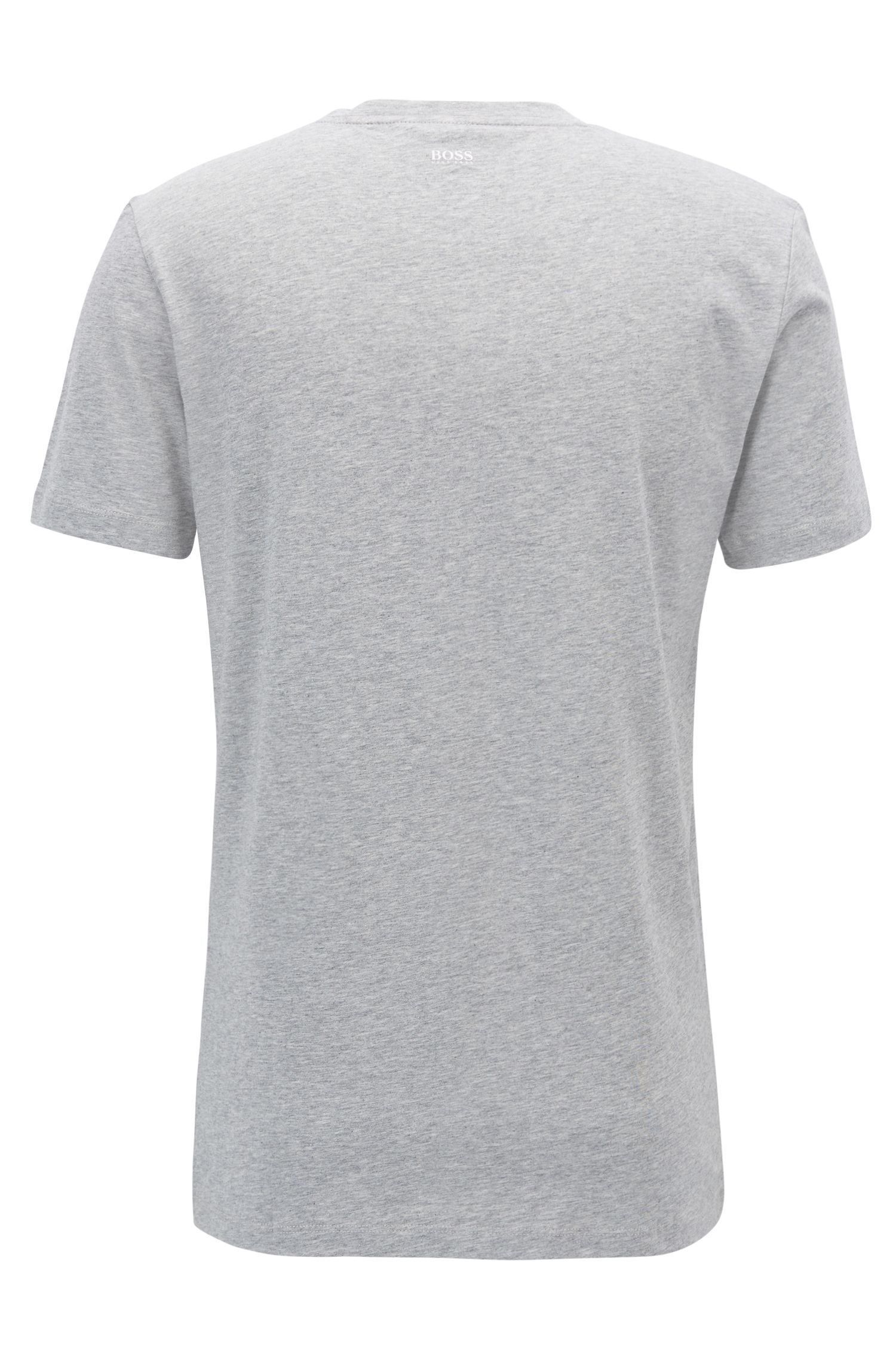 Cuba-Print Cotton Jersey Graphic T-Shirt | Tauno, Grey