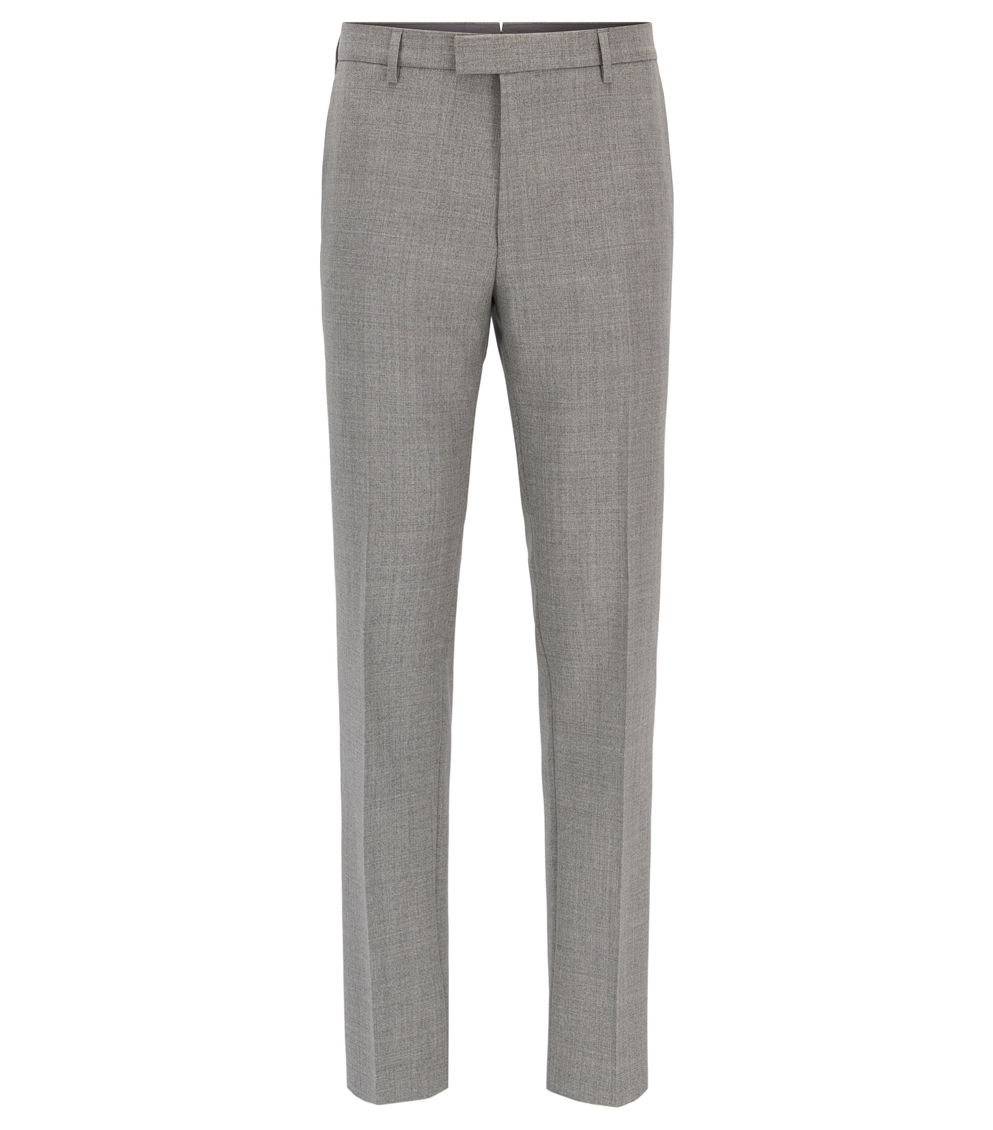Virgin Wool Dress Pant, Regular Fit | T-Lones, Grey