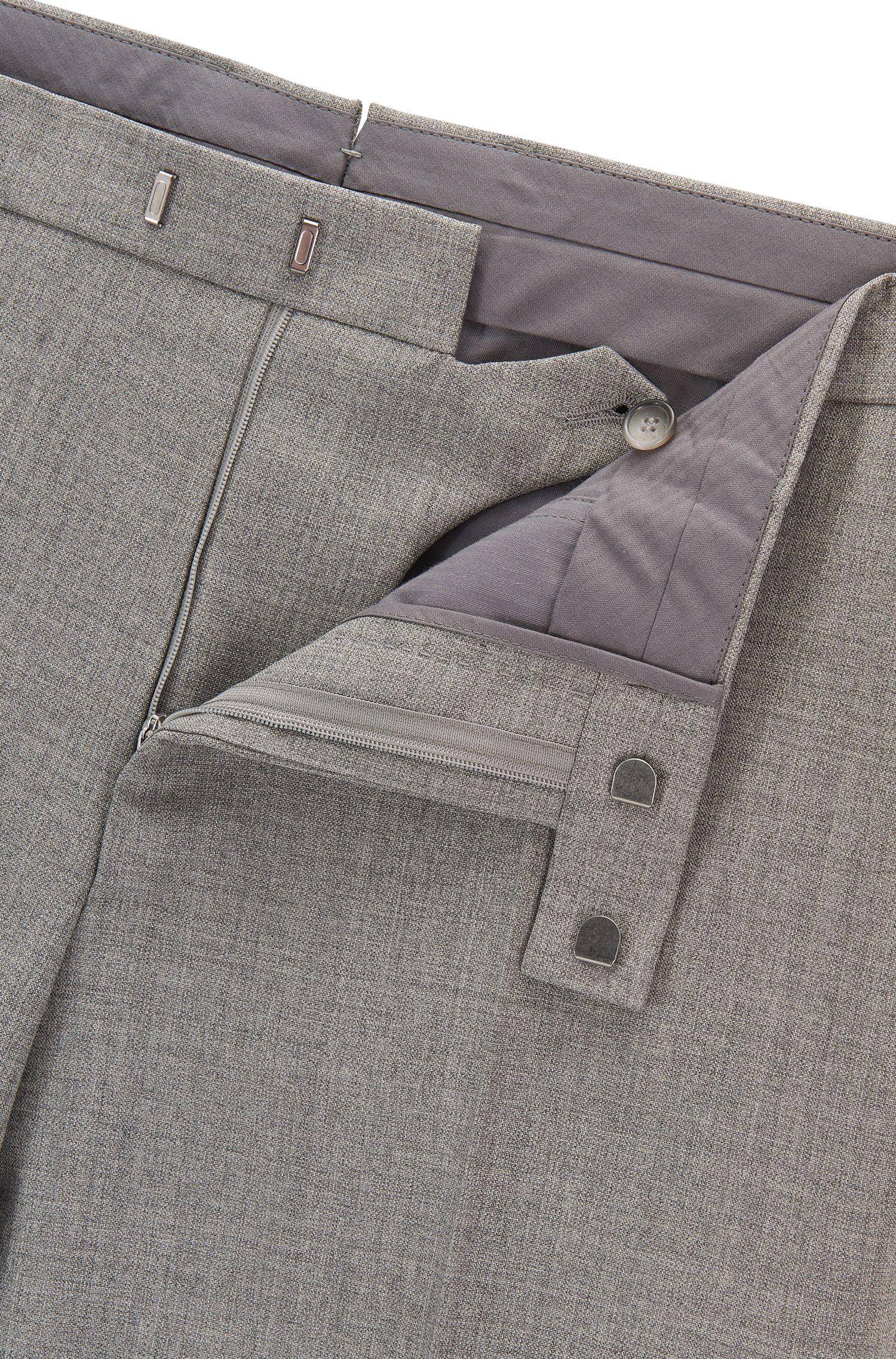 Virgin Wool Dress Pant, Regular Fit | T-Lones, Grey