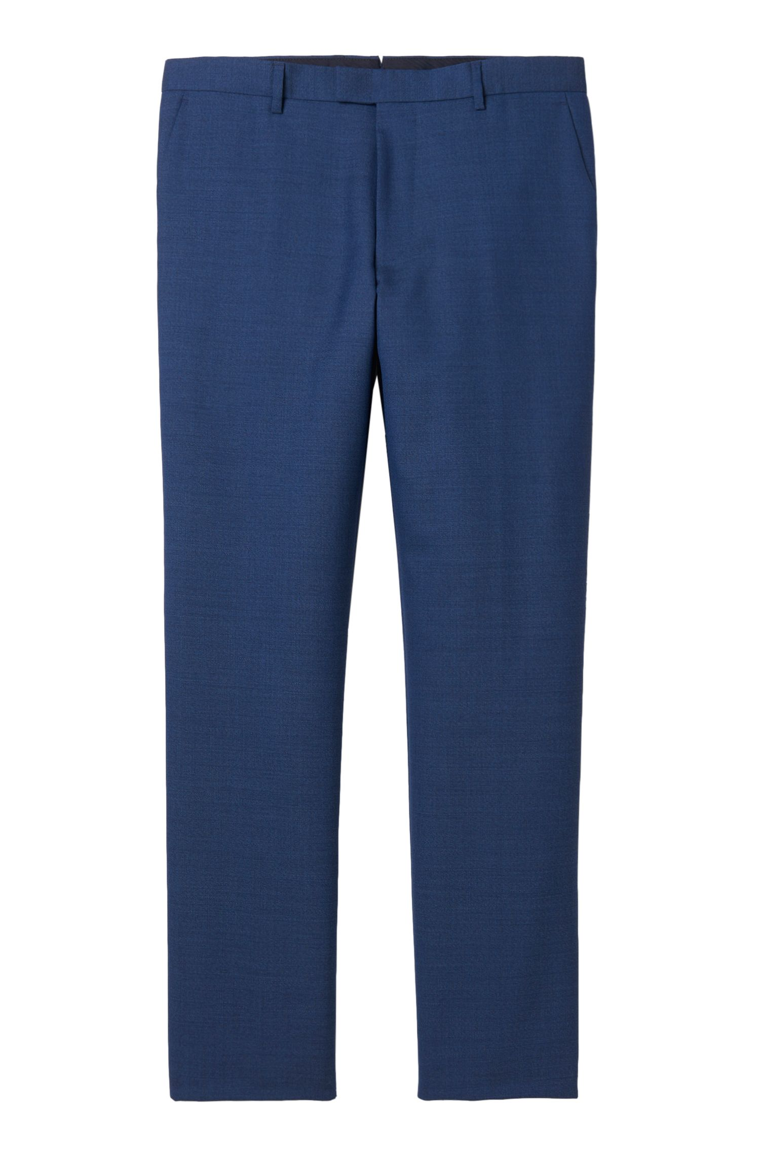 Virgin Wool Dress Pant, Regular Fit | T-Lones, Dark Blue