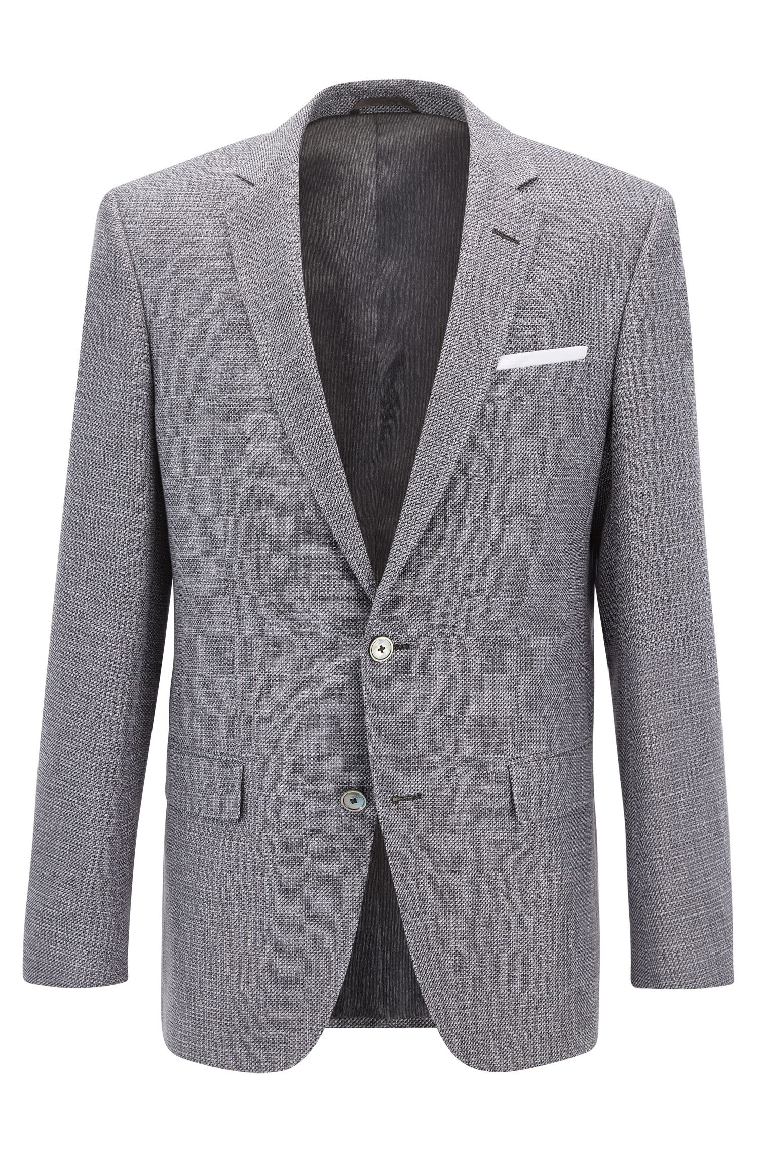 Basketweave Cotton Linen Sport Coat, Slim Fit | Hutsons