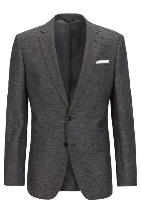 727867553 BOSS - Melange Cotton-Linen Sport Coat, Slim Fit | Hutsons