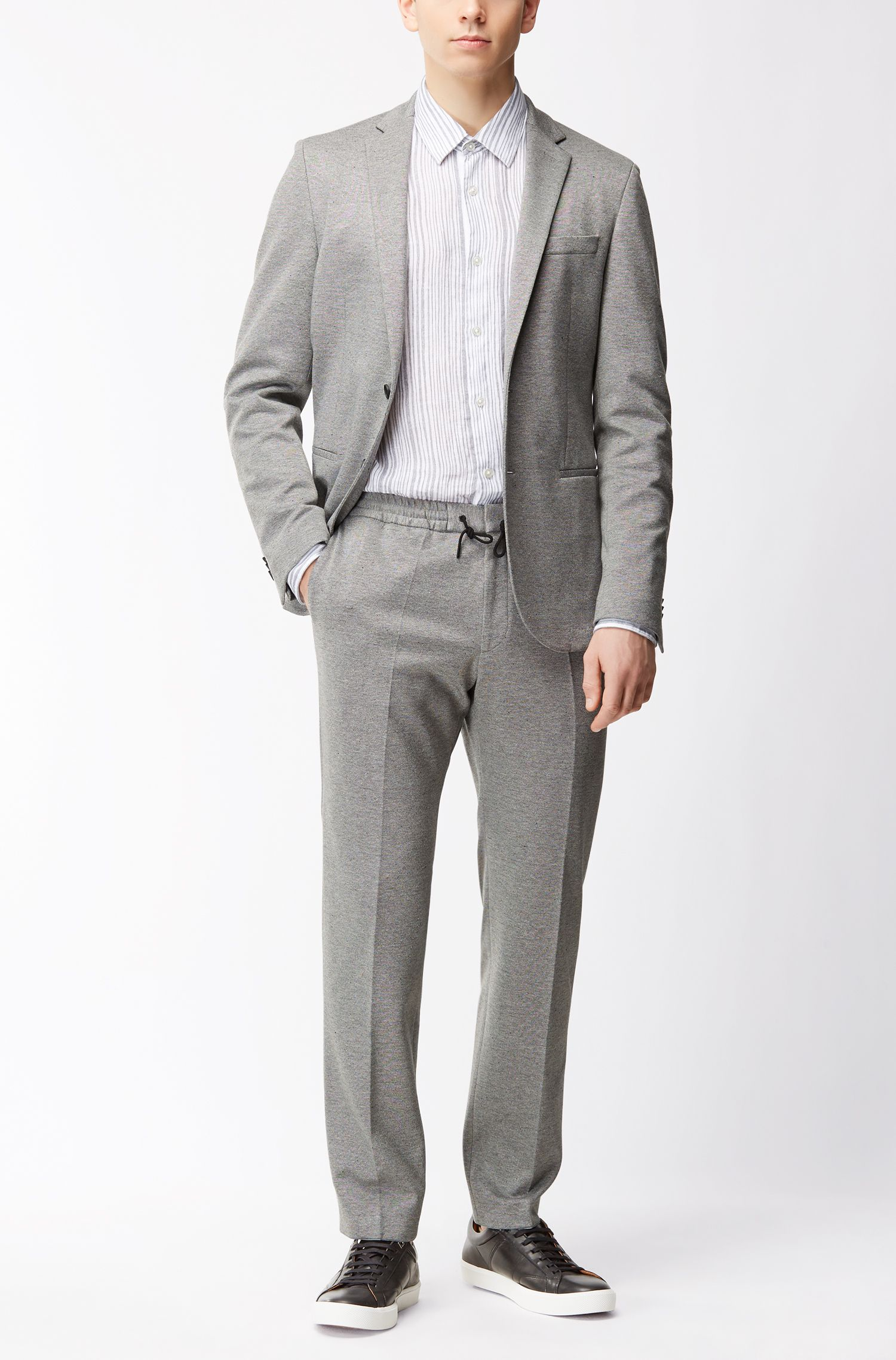 Jersey Blend Sport Coat, Slim Fit | Norwin J, Grey