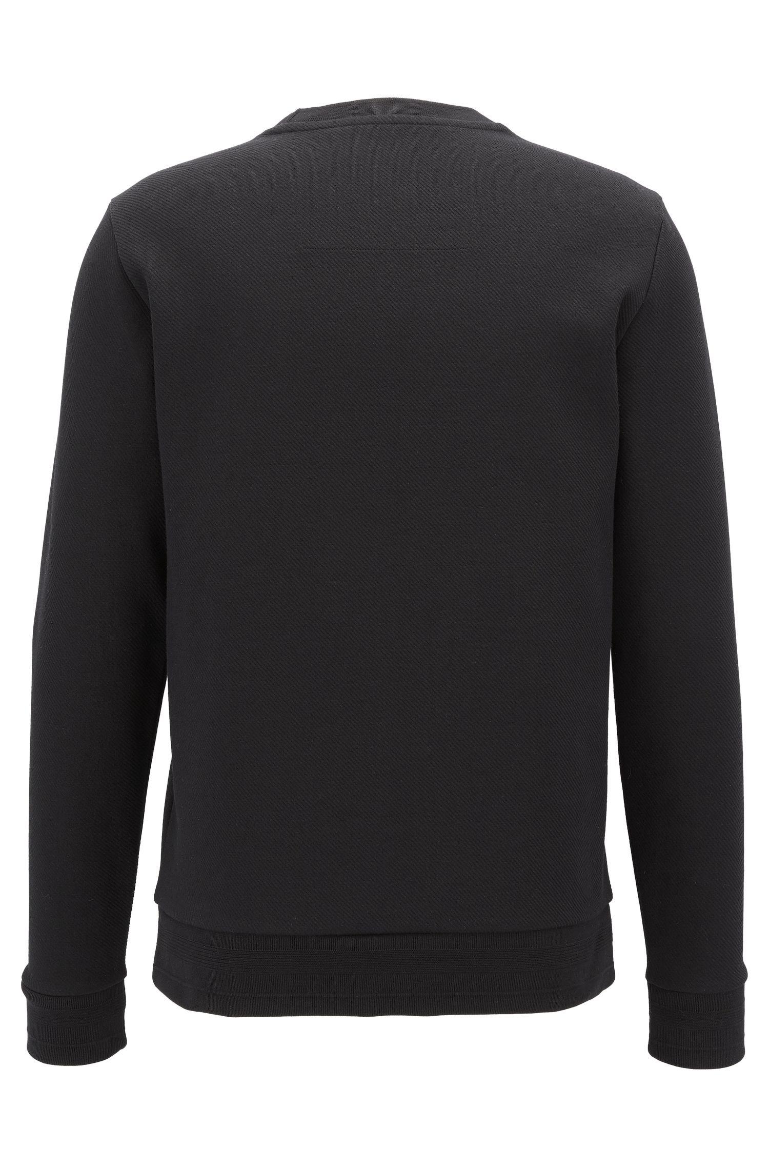 Logo Cotton Sweatshirt | Skubic, Black