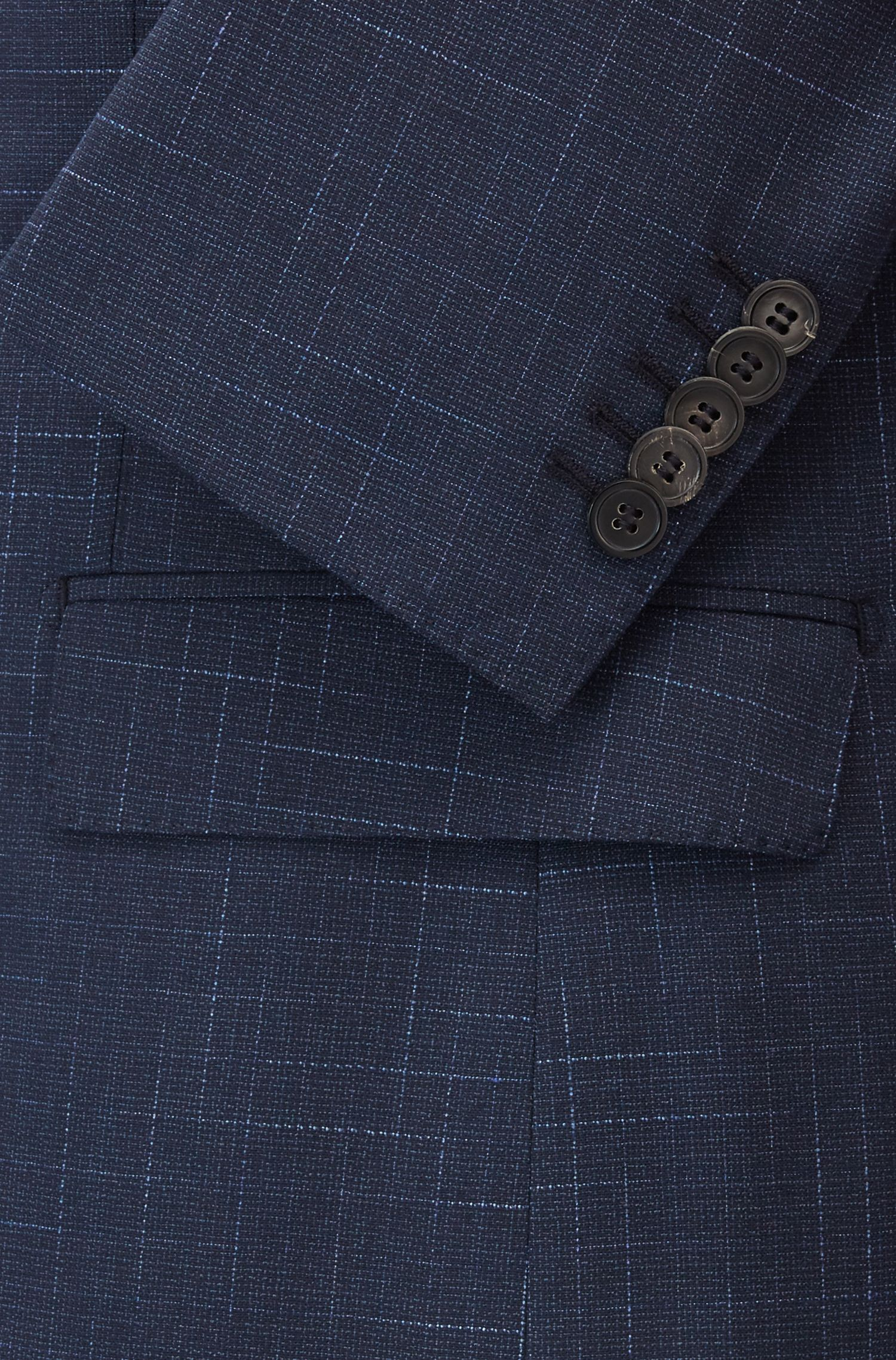Stretch Wool Suit, Extra Slim Fit | T-Royston Wain, Dark Blue
