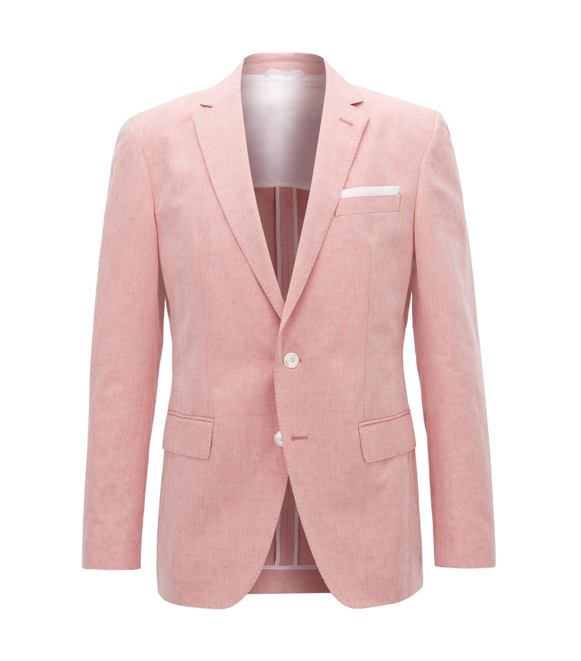 Linen Cotton Sport Coat, Slim Fit | Hartlay, Red