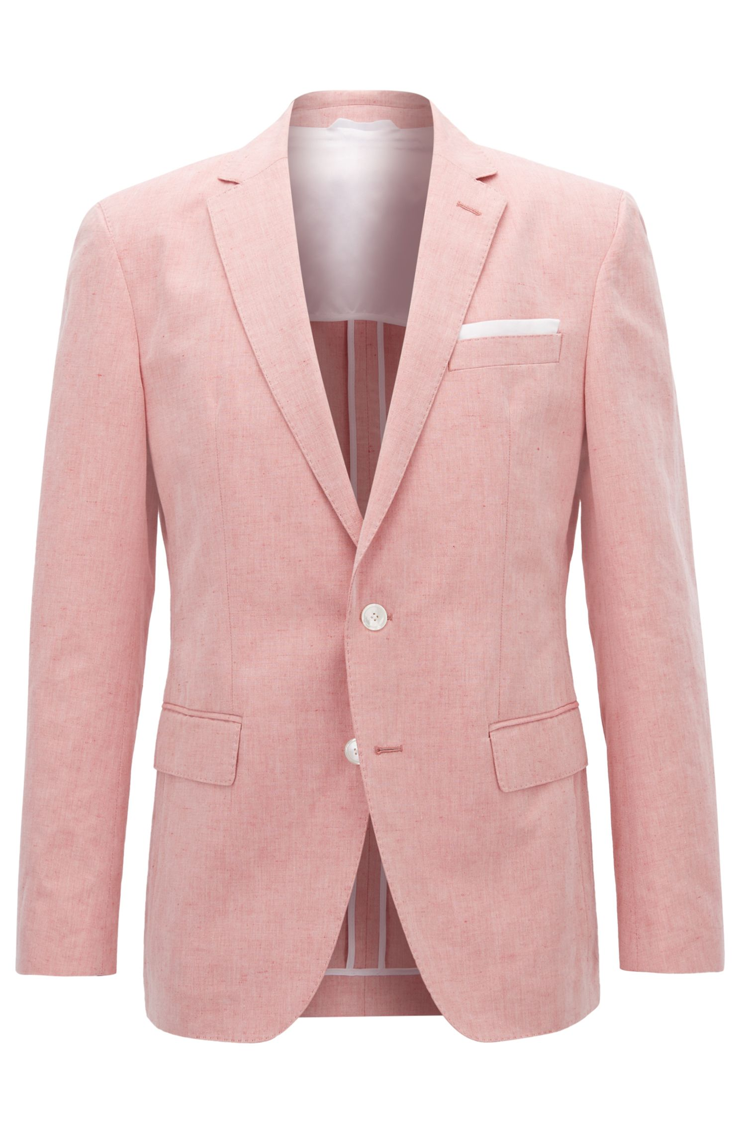 Linen Cotton Sport Coat, Slim Fit | Hartlay