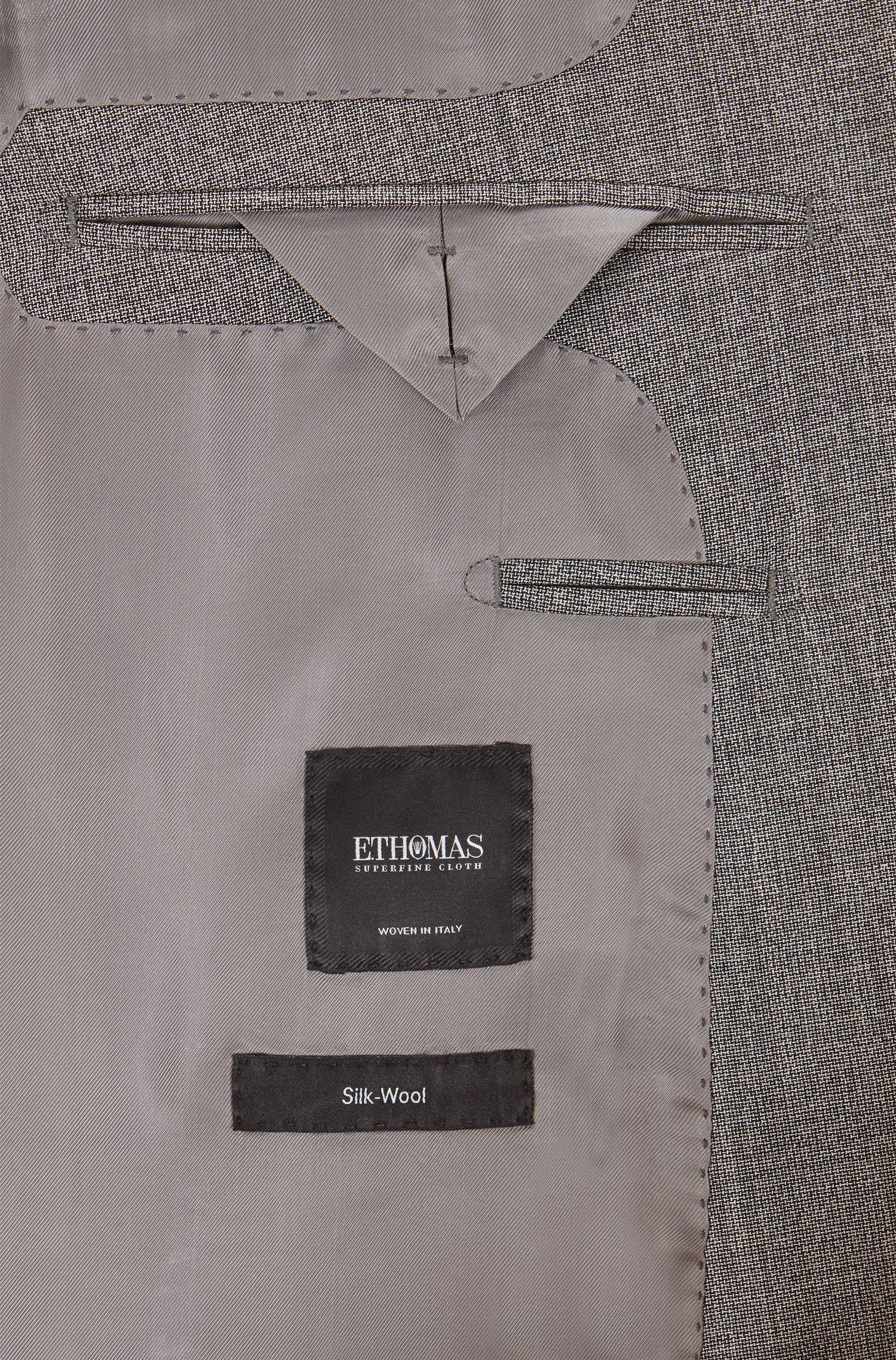 Wool-Silk Suit, Slim Fit | T-Harver/Glover, Grey