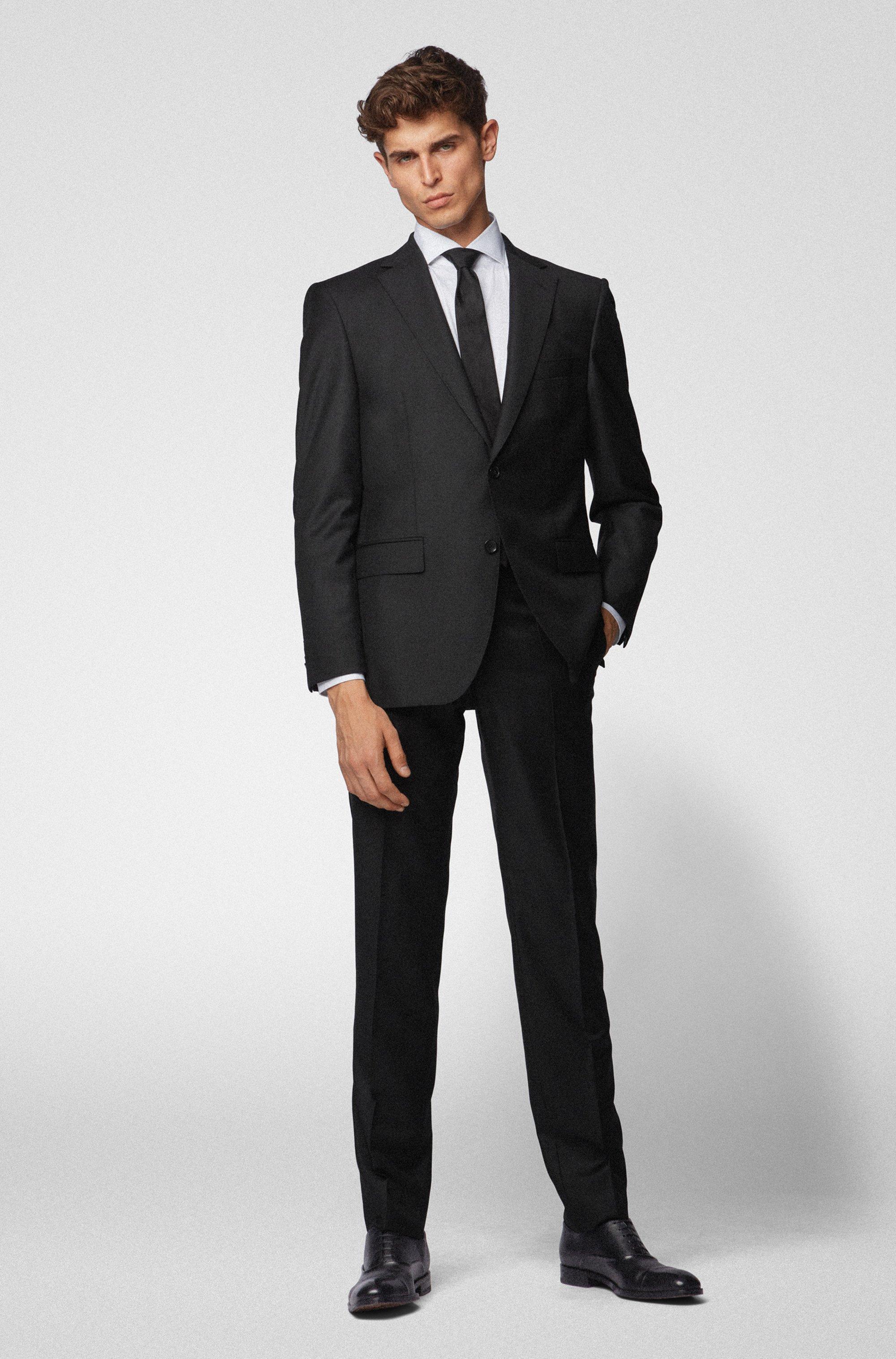 Slim-fit formal pants in virgin wool