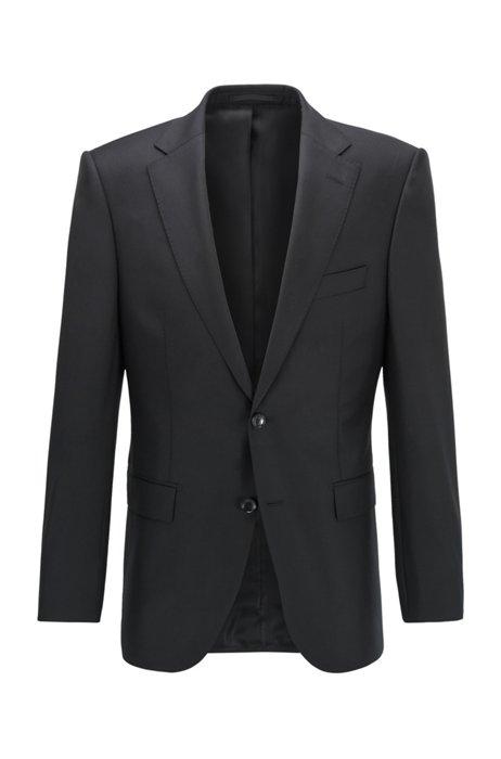 Virgin-wool jacket in a regular fit, Black