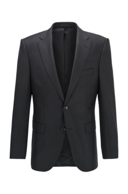 Virgin-wool jacket in a regular fit, Black