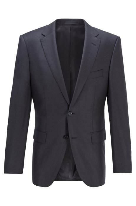 Virgin-wool jacket in a regular fit, Open Grey