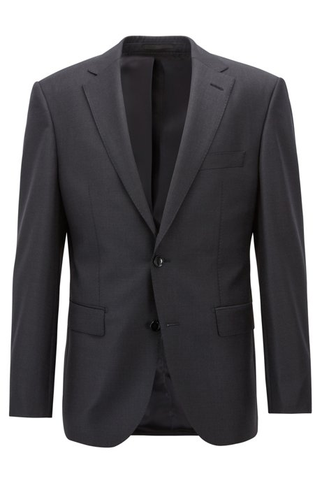 Virgin-wool jacket in a regular fit, Open Grey