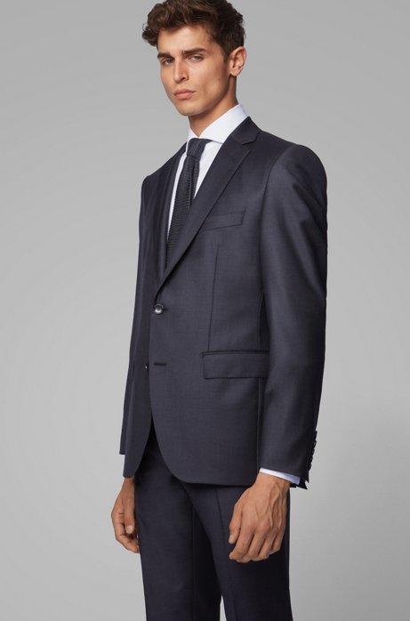 Virgin-wool jacket in a regular fit, Light Grey