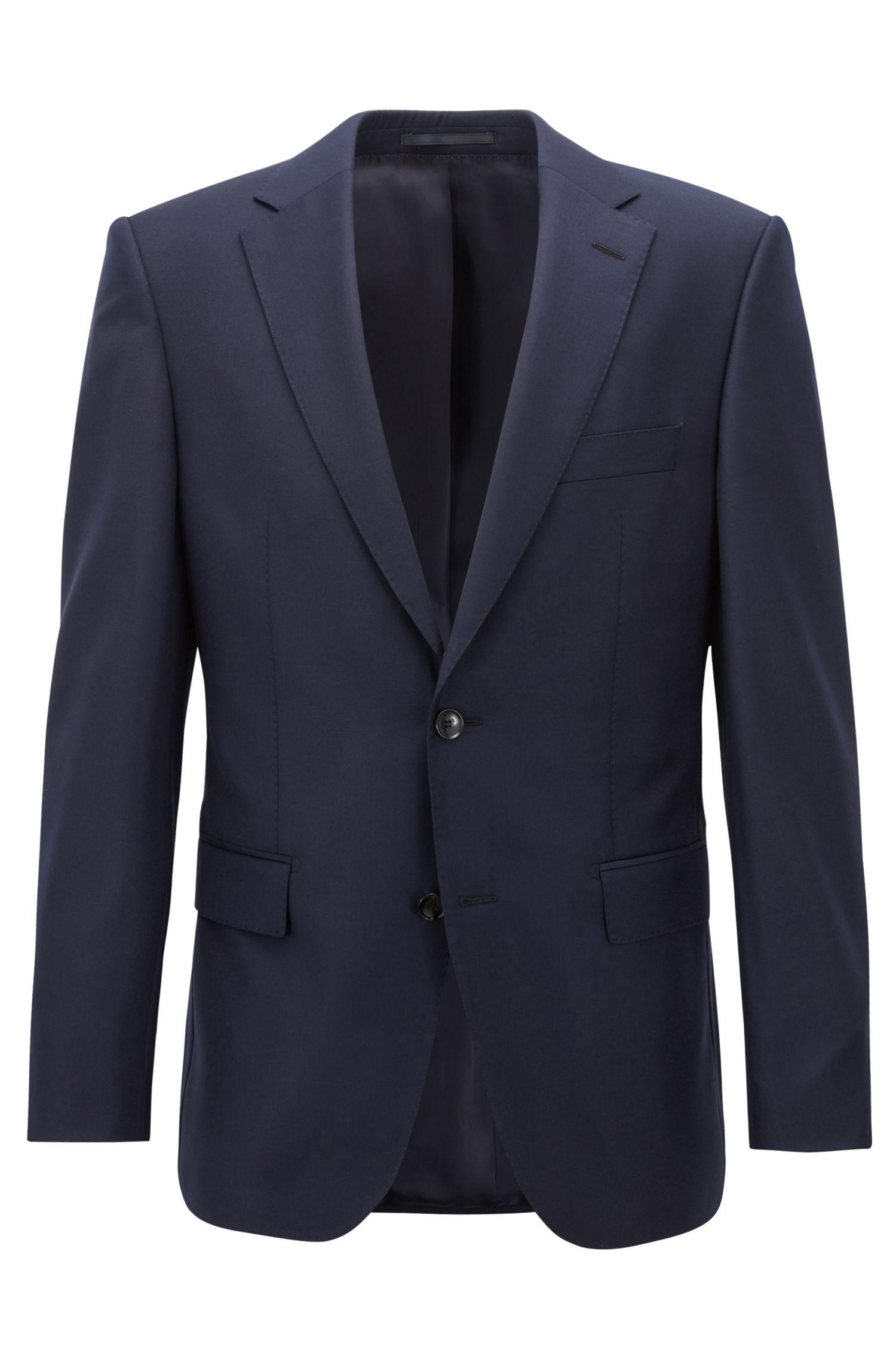 Virgin-wool jacket in a regular fit, Dark Blue