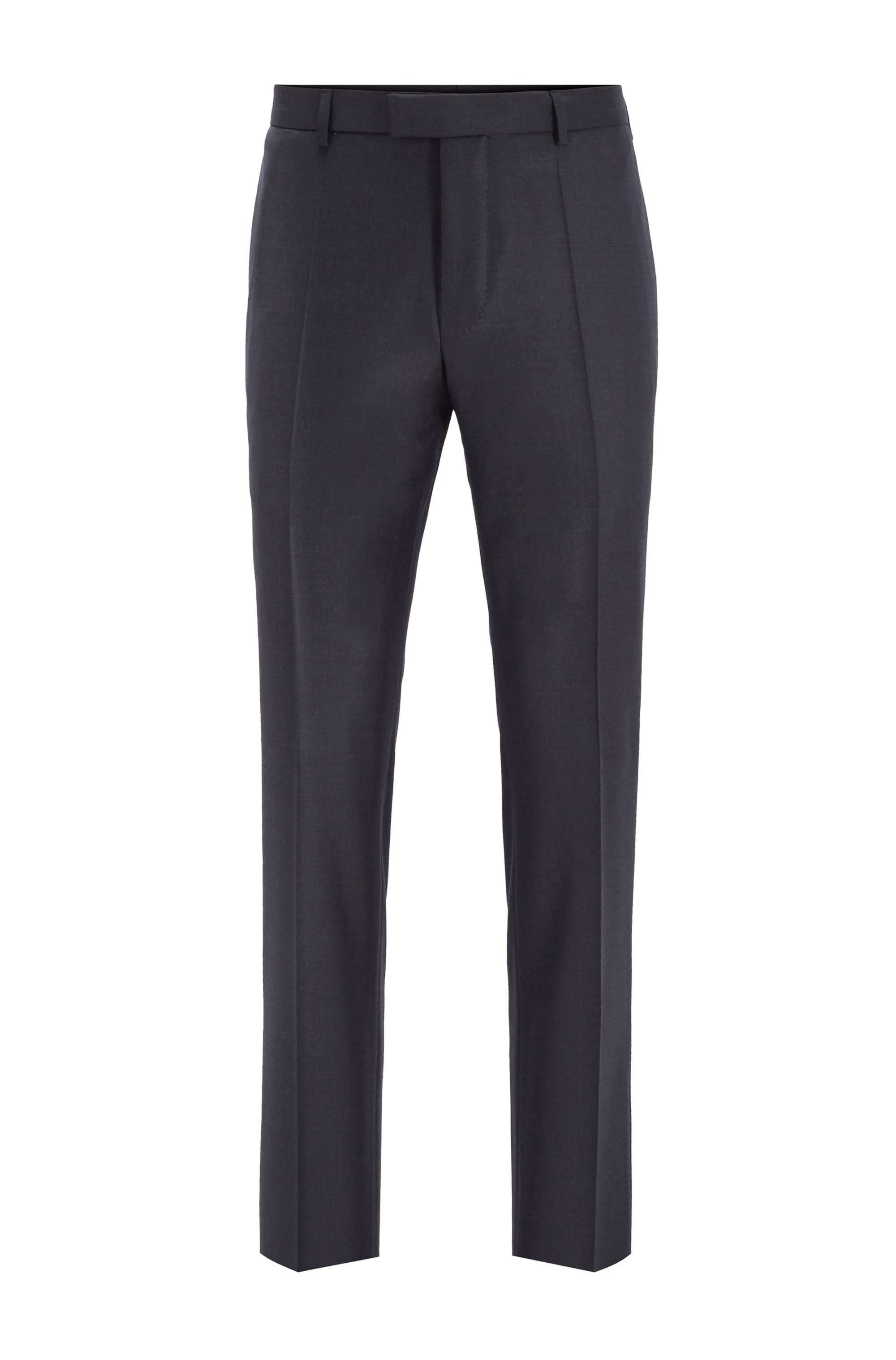 Regular-fit formal pants in virgin wool, Light Grey