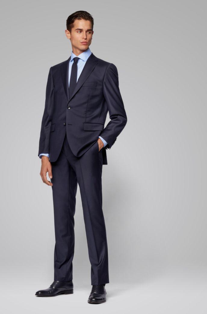 Regular-fit formal pants in virgin wool