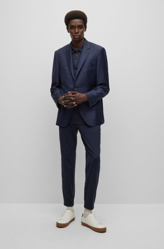 Slim-fit tailored jacket in mid-weight virgin wool