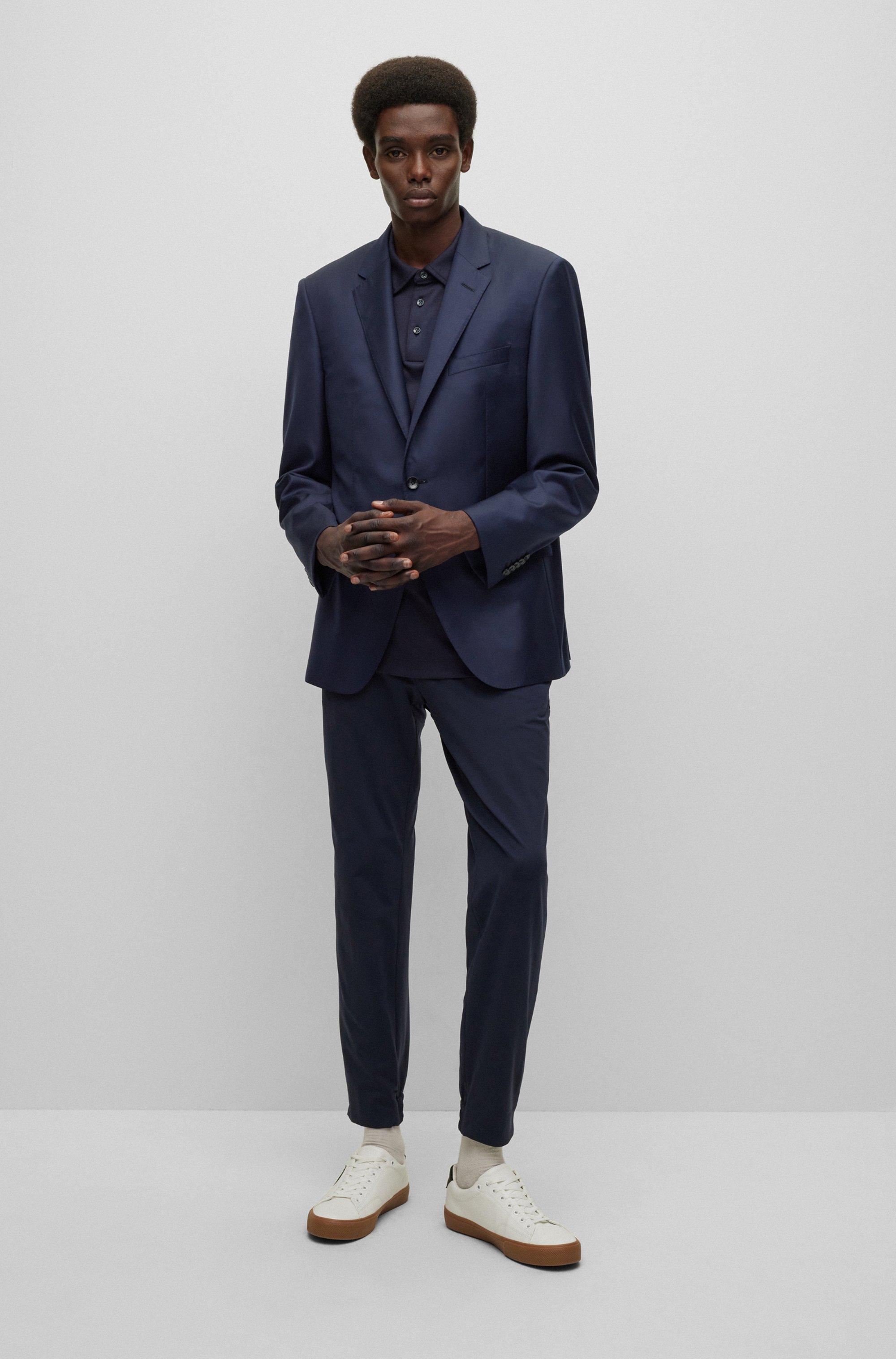 Slim-fit tailored jacket in mid-weight virgin wool