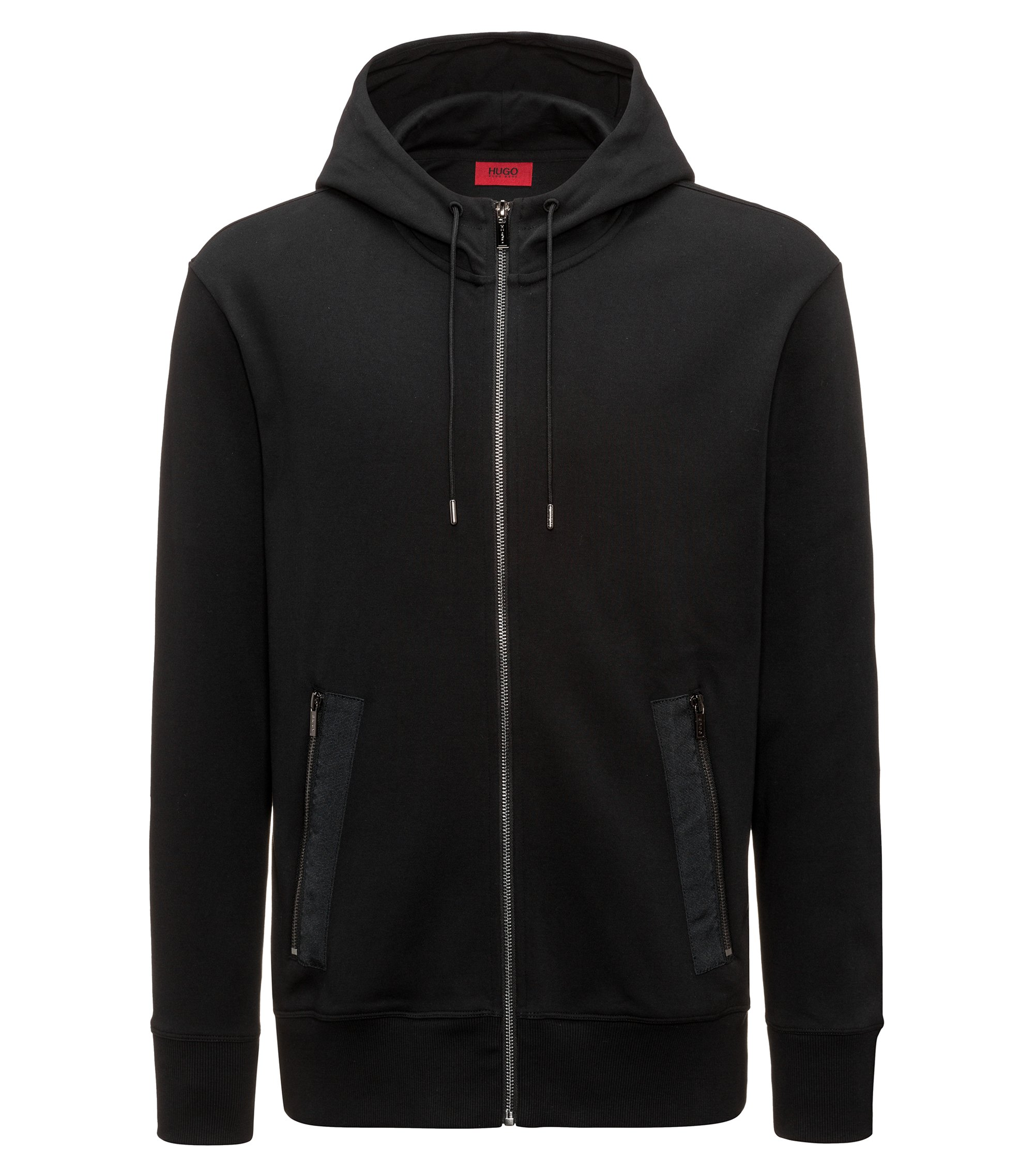 Ripe-Taped Cotton Hoodie | Dolvo, Black