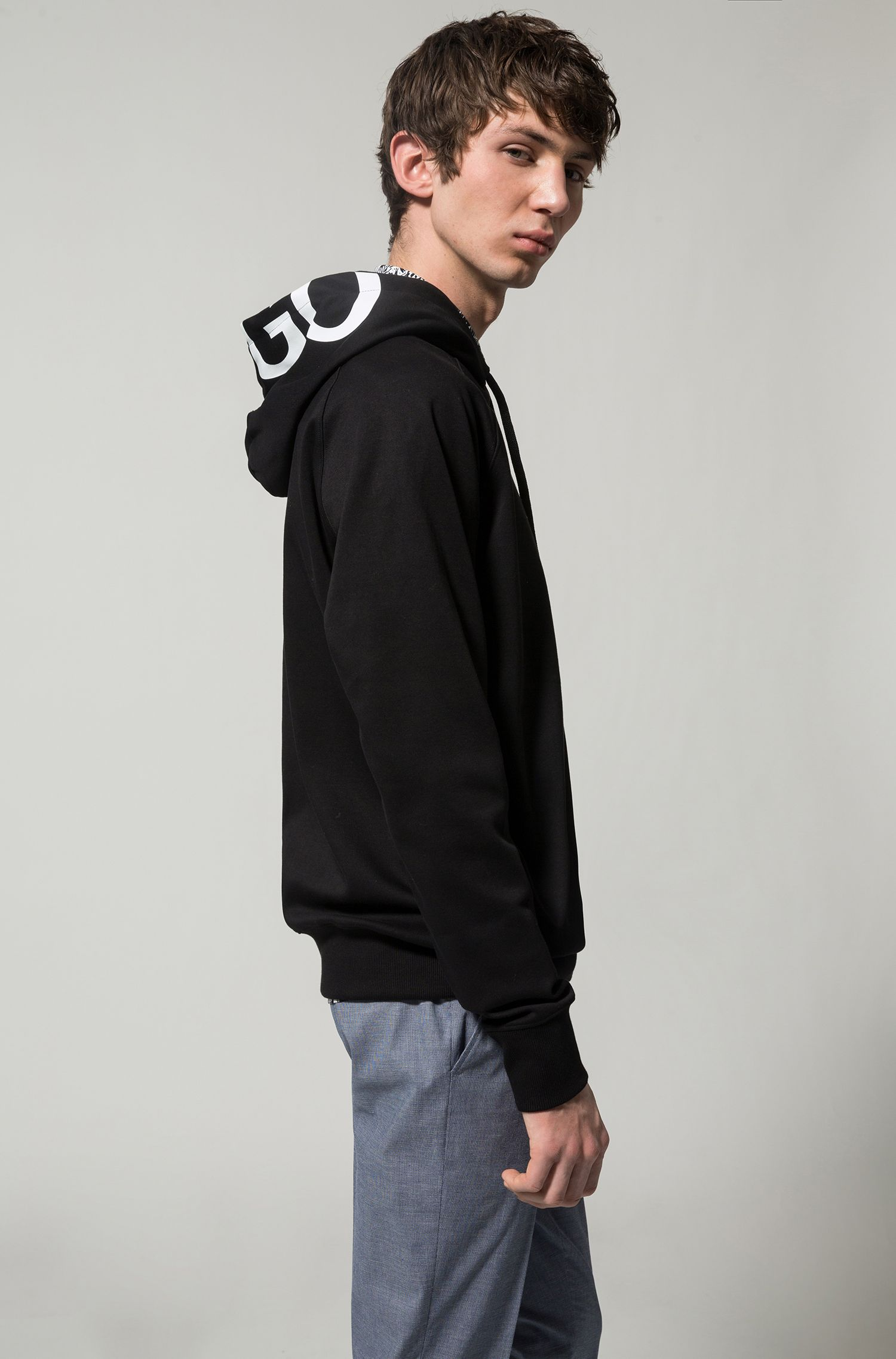 Logo-Print Cotton Sweatshirt | Dayfun, Black